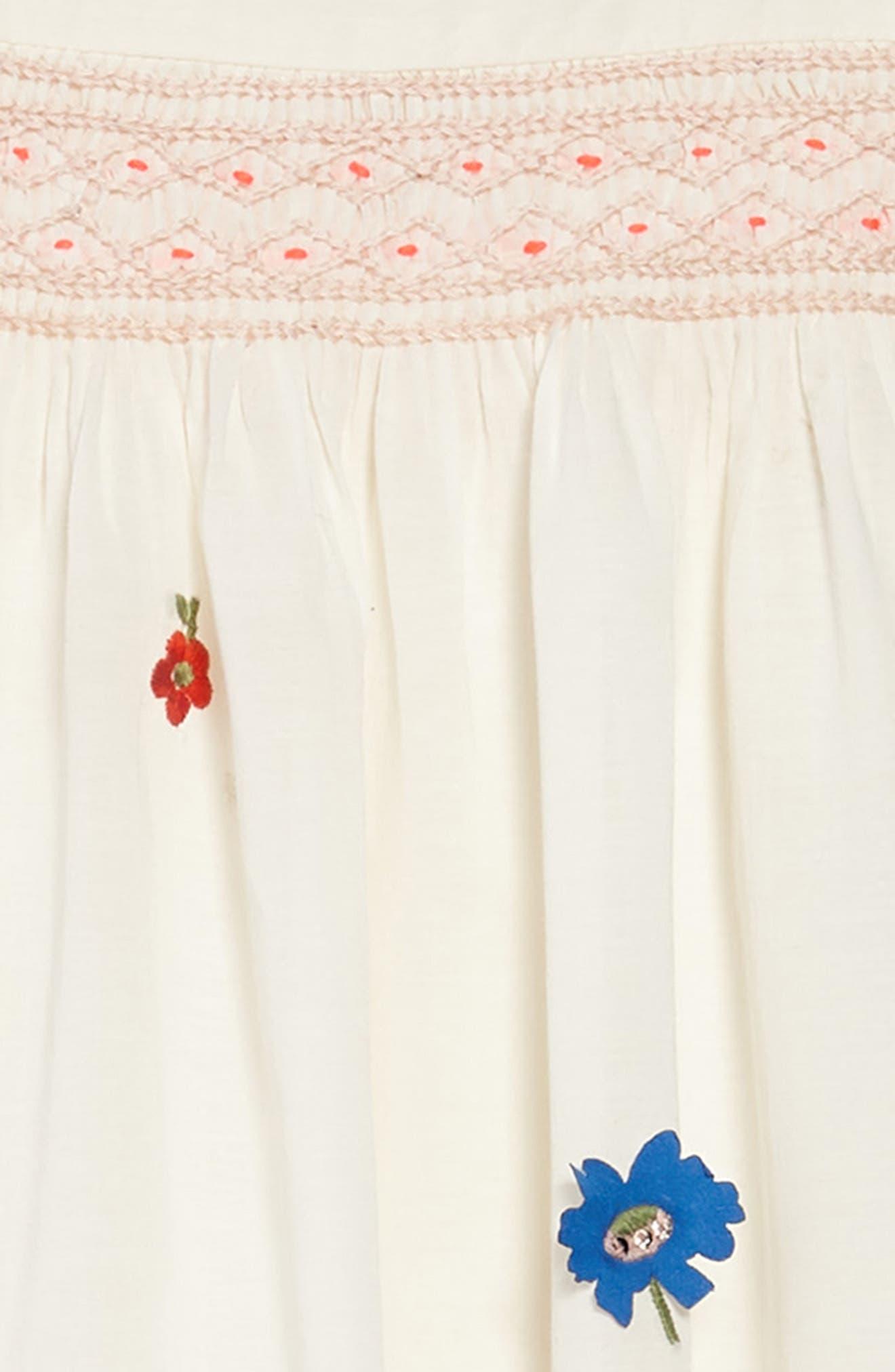Embroidered Smock Dress,                             Alternate thumbnail 3, color,                             Mltmulti Vintage Posy