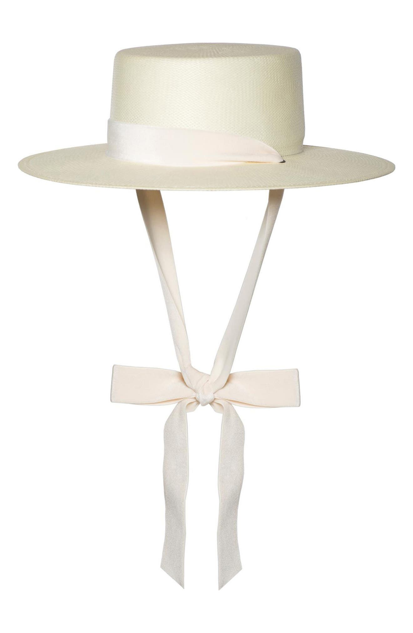 The Heiress Straw Bolero Hat,                             Main thumbnail 1, color,                             Ivory