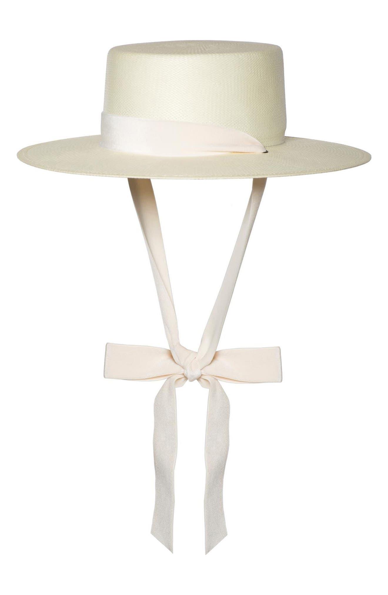Main Image - Bijou Van Ness The Heiress Straw Bolero Hat