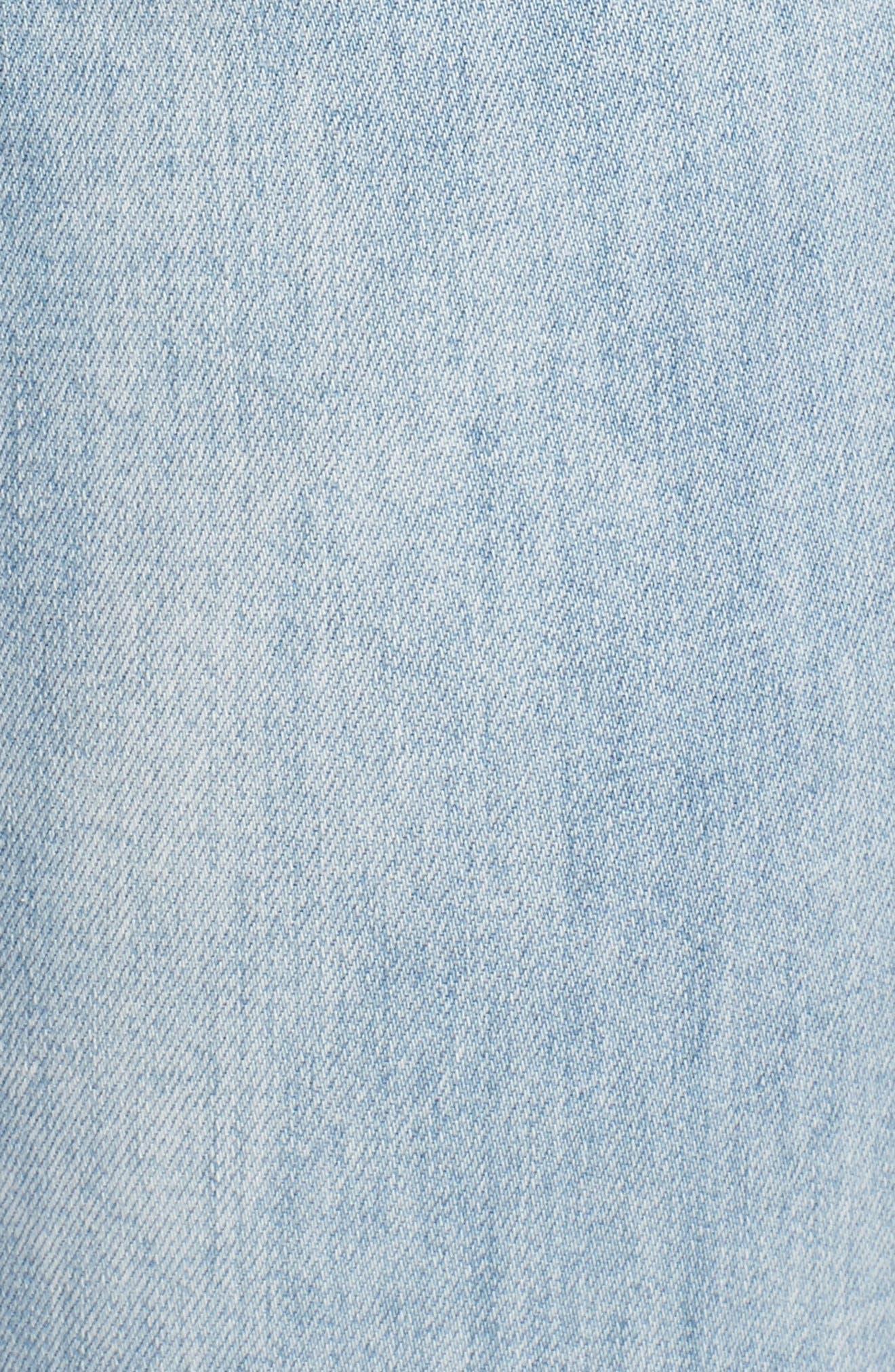 Ab-solution High Rise Crop Jeans,                             Alternate thumbnail 6, color,                             Light Blue