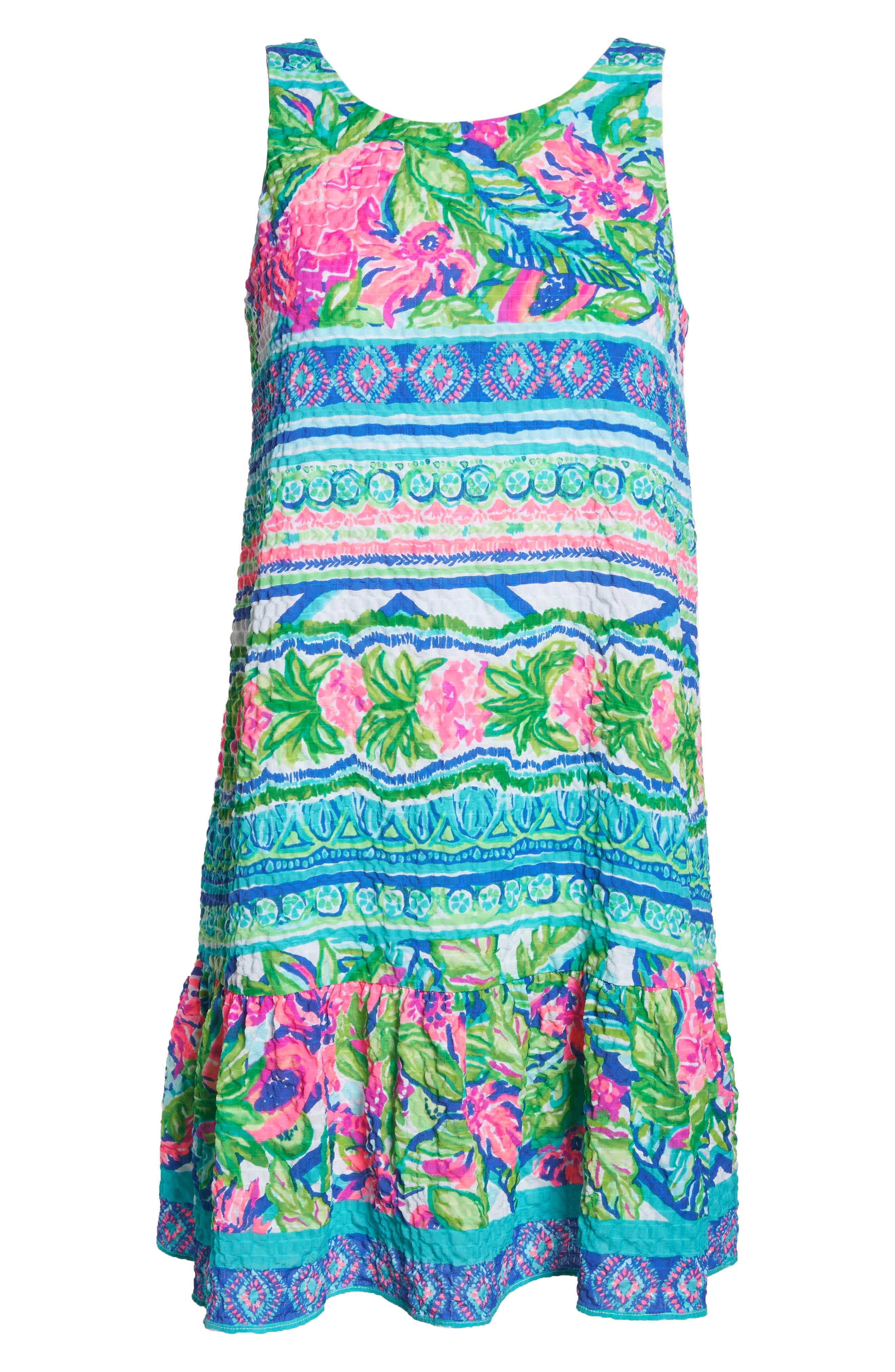 Lilly Pulitzer Gabriella Dress,                             Alternate thumbnail 6, color,                             Multi Daquiri Shack