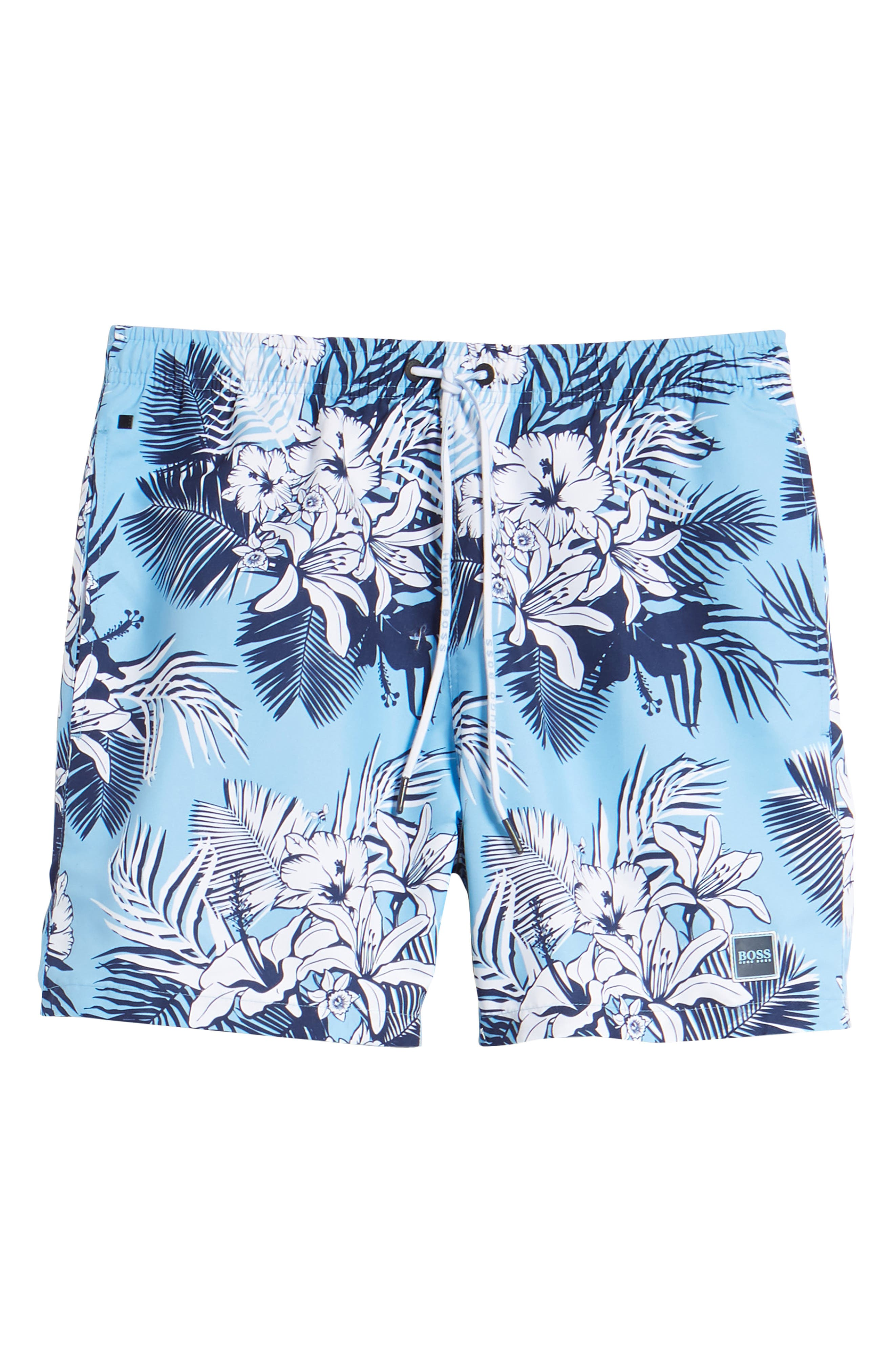 Alternate Image 6  - BOSS Piranha Floral Swim Trunks