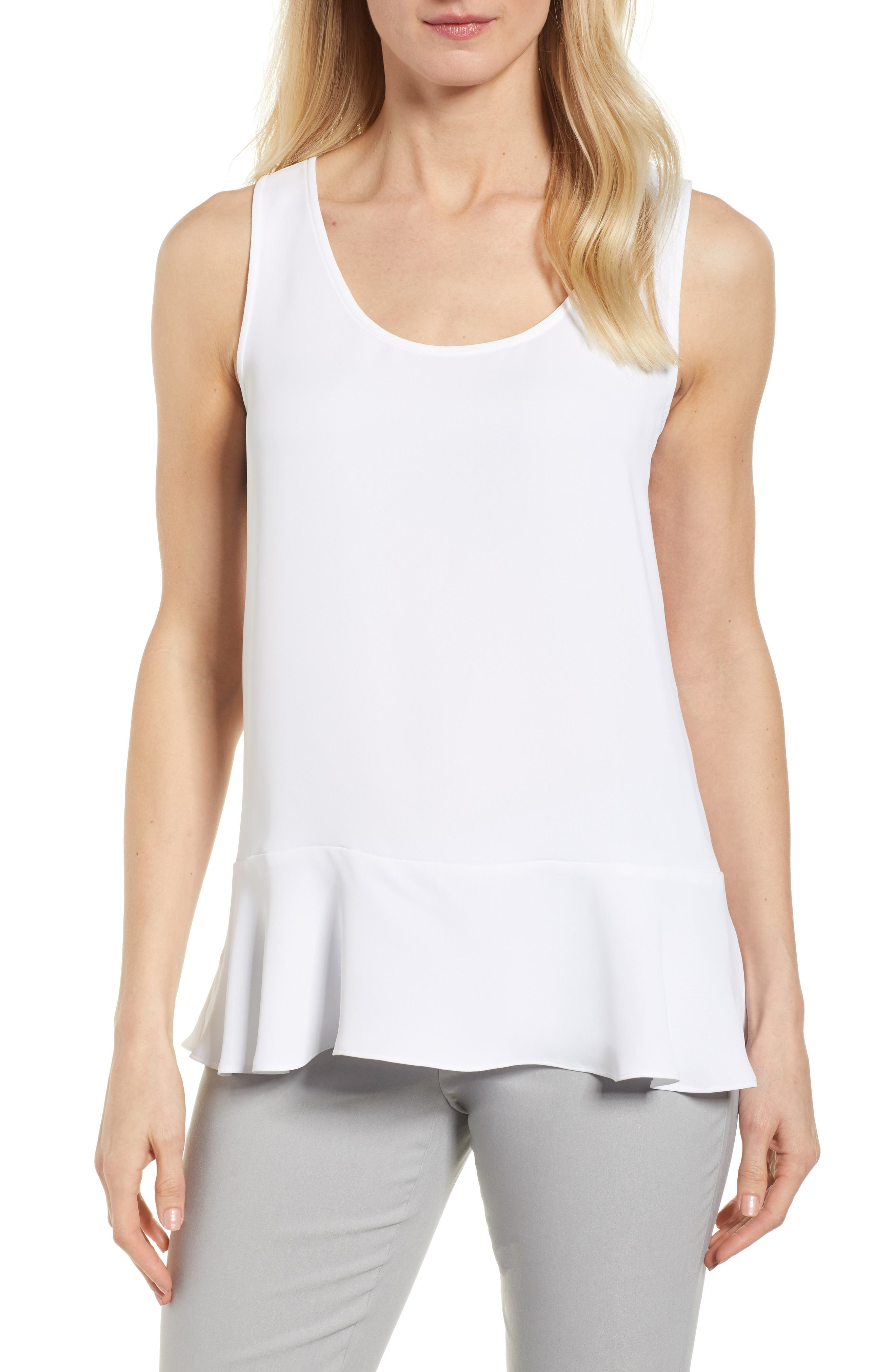 Moroccan Tank,                             Main thumbnail 1, color,                             Paper White