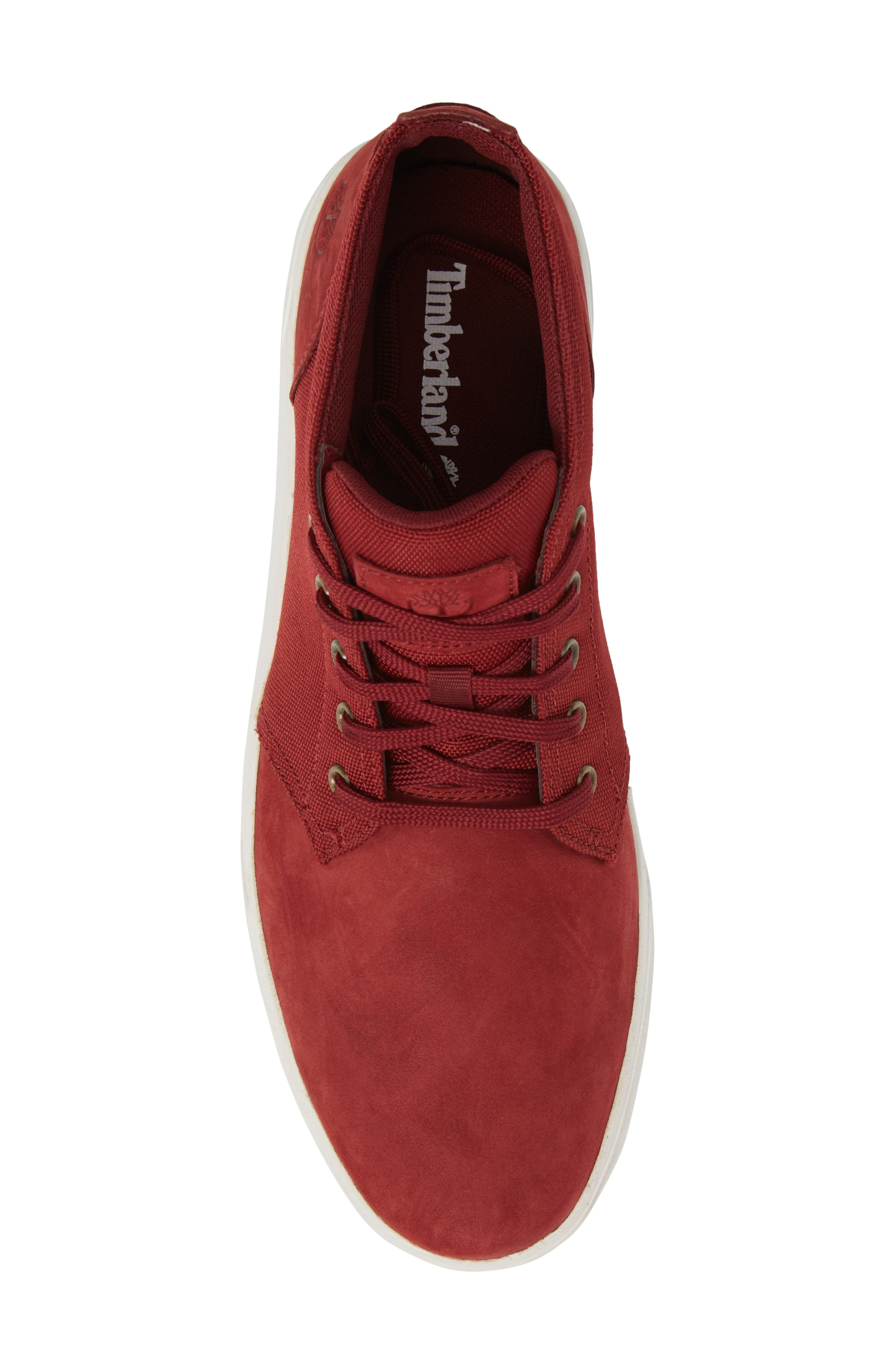 Earthkeepers<sup>™</sup> 'Groveton' Chukka Sneaker,                             Alternate thumbnail 5, color,                             Pomegranate Nubuck