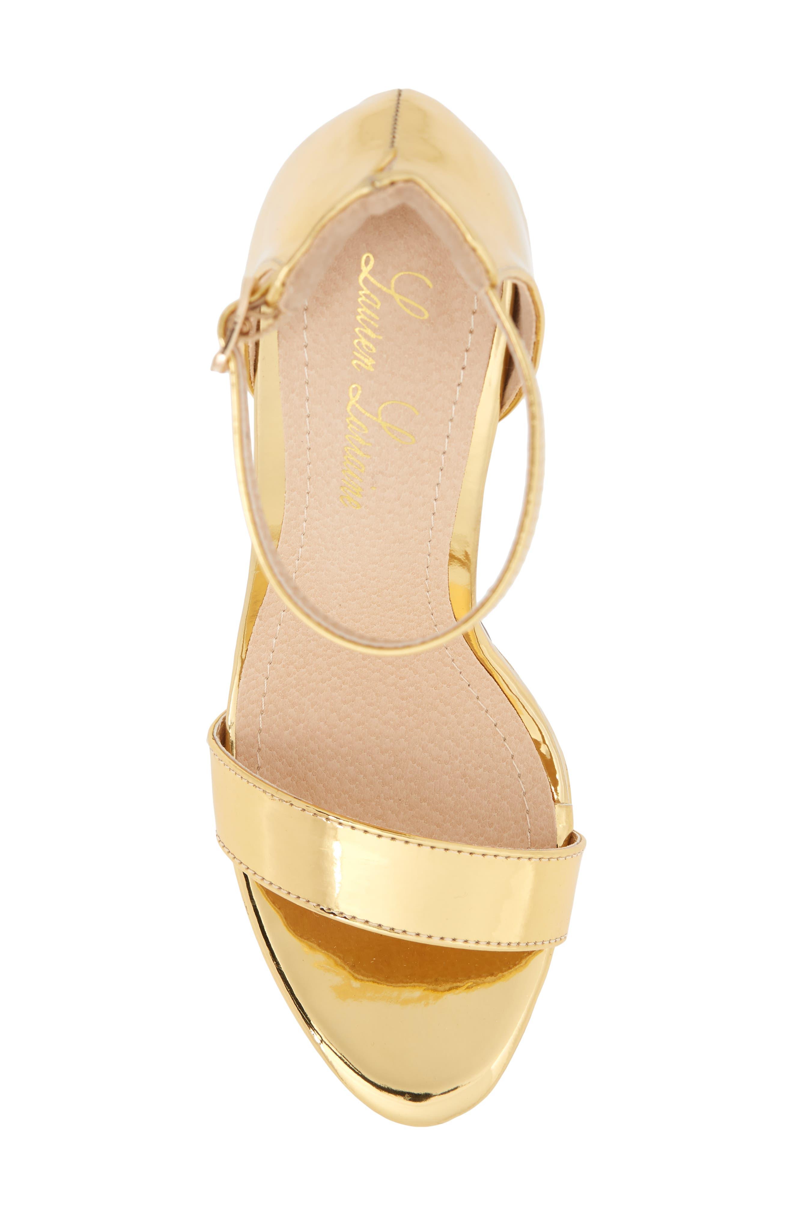 Darlene Platform Sandal,                             Alternate thumbnail 5, color,                             Gold