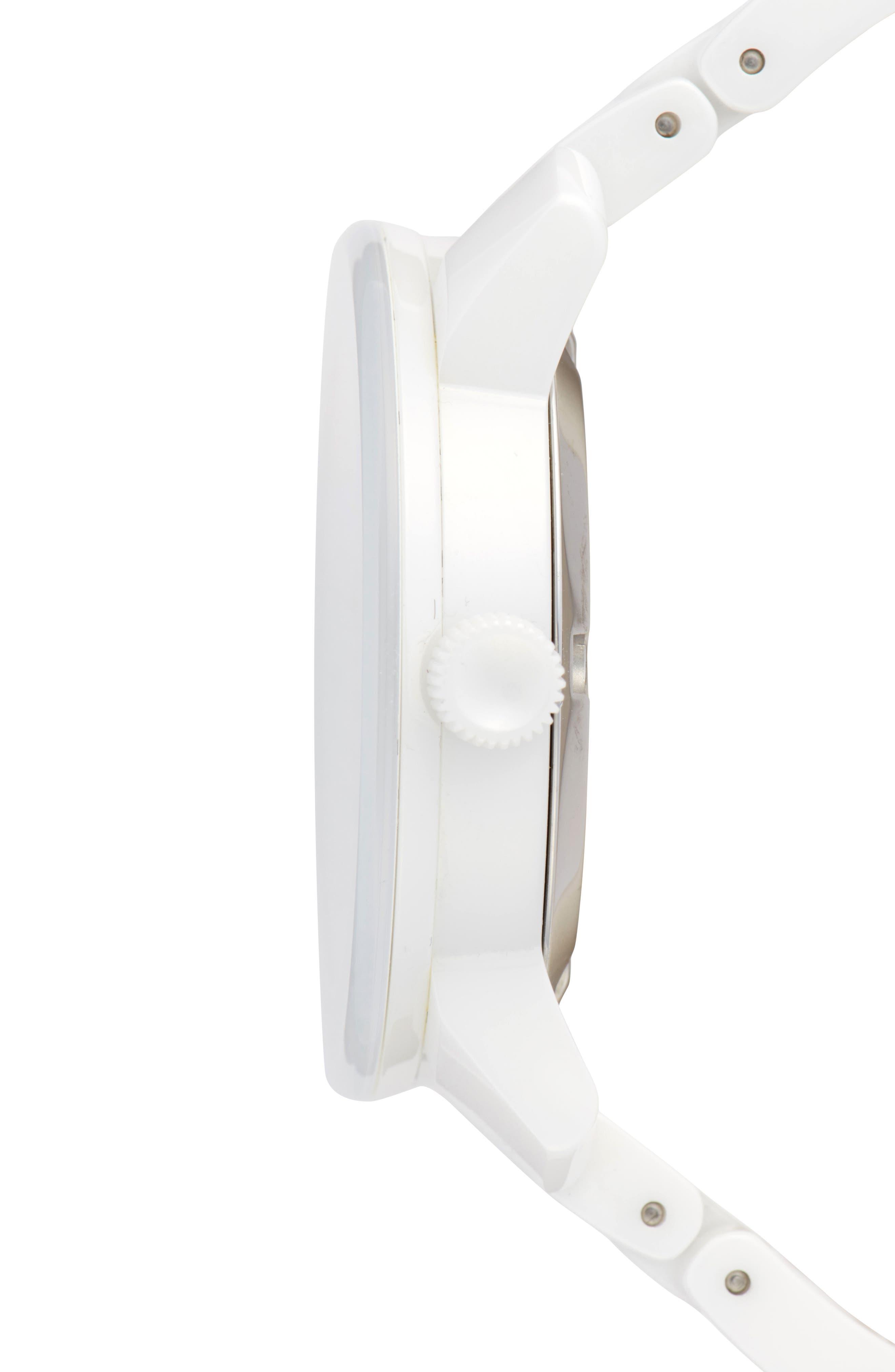 Bold Ceramic Bracelet Watch, 36mm,                             Alternate thumbnail 4, color,                             White
