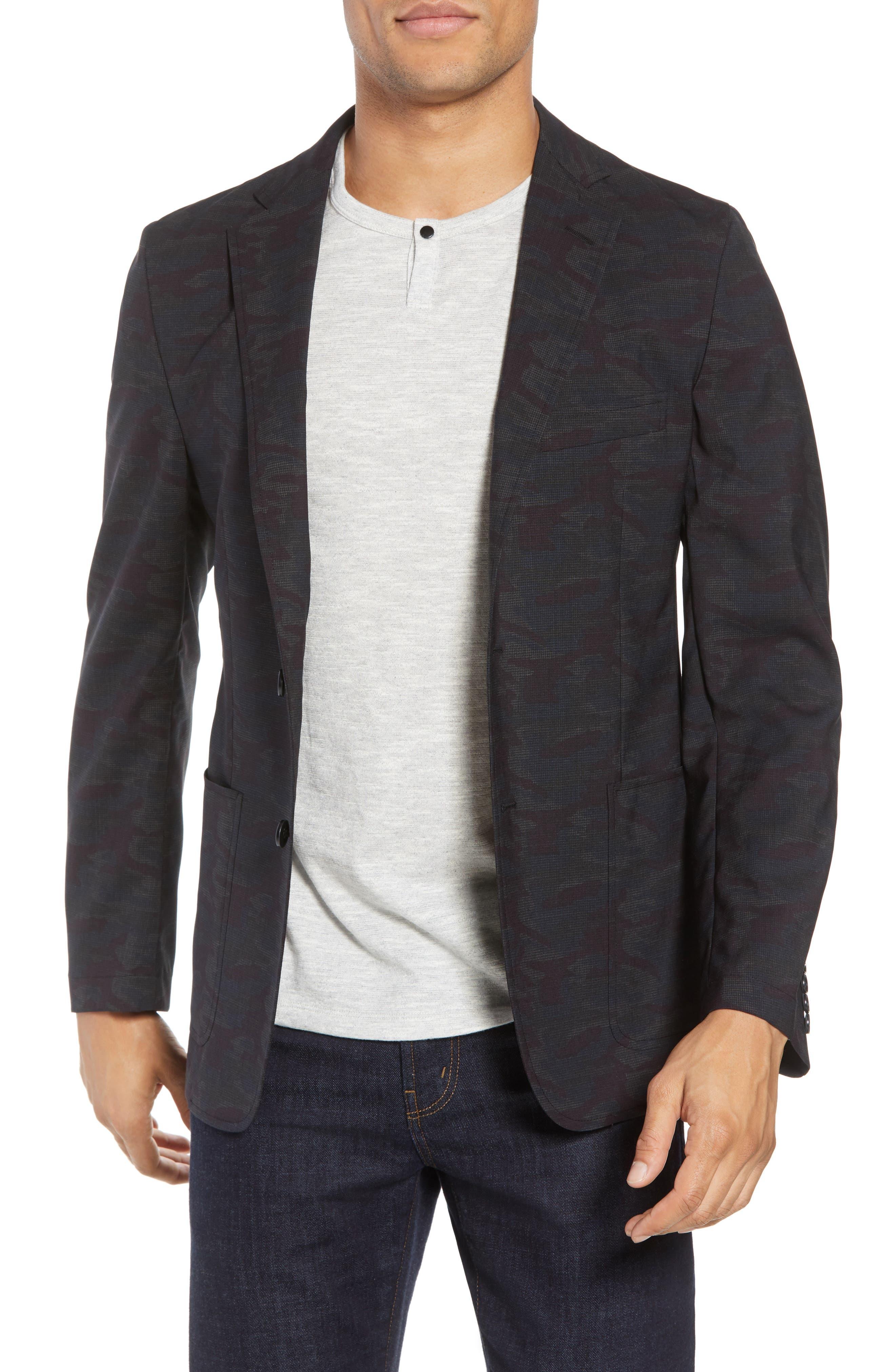 H Classic Fit Camo Wool Sport Coat