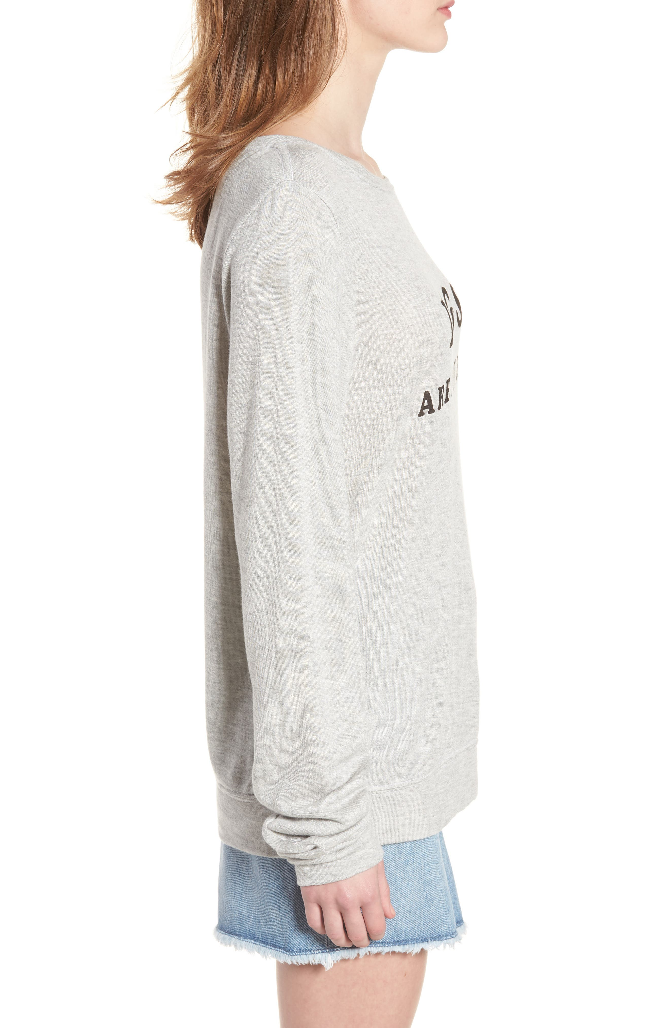 Dogs - Baggy Beach Jumper Pullover,                             Alternate thumbnail 3, color,                             Heather