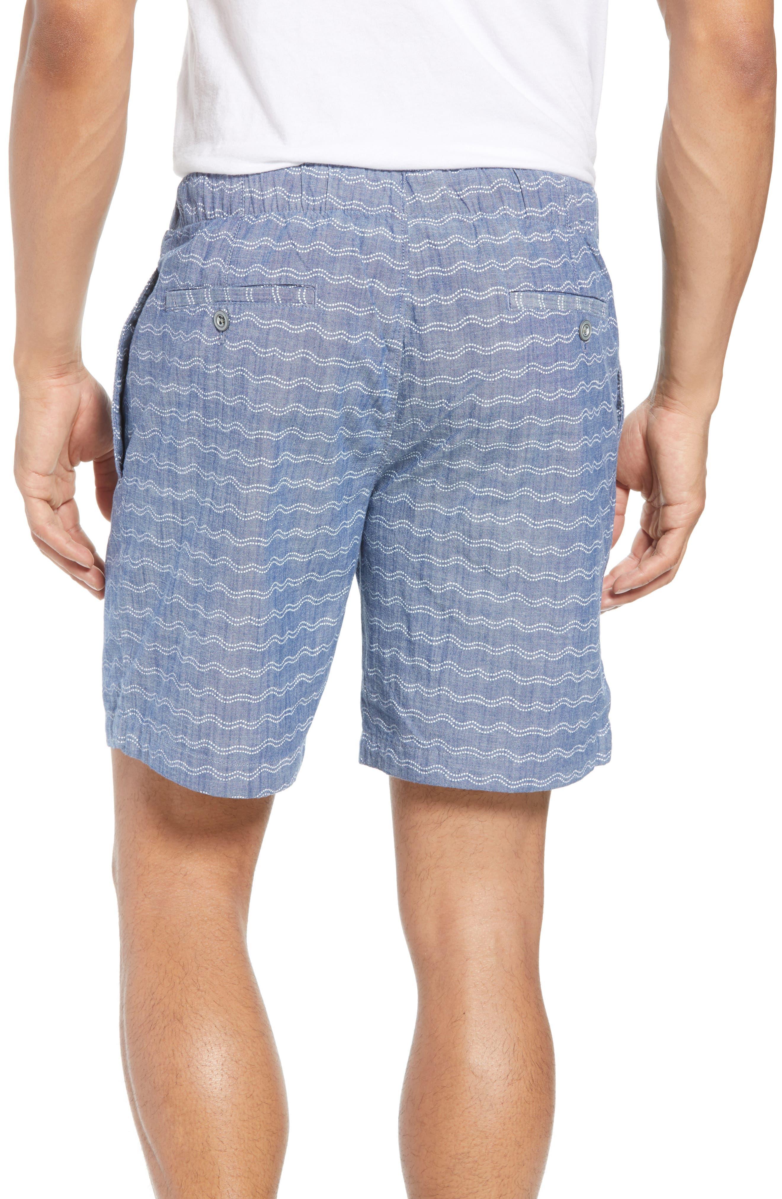 Print Beach Shorts,                             Alternate thumbnail 2, color,                             Wave Dot Chambray