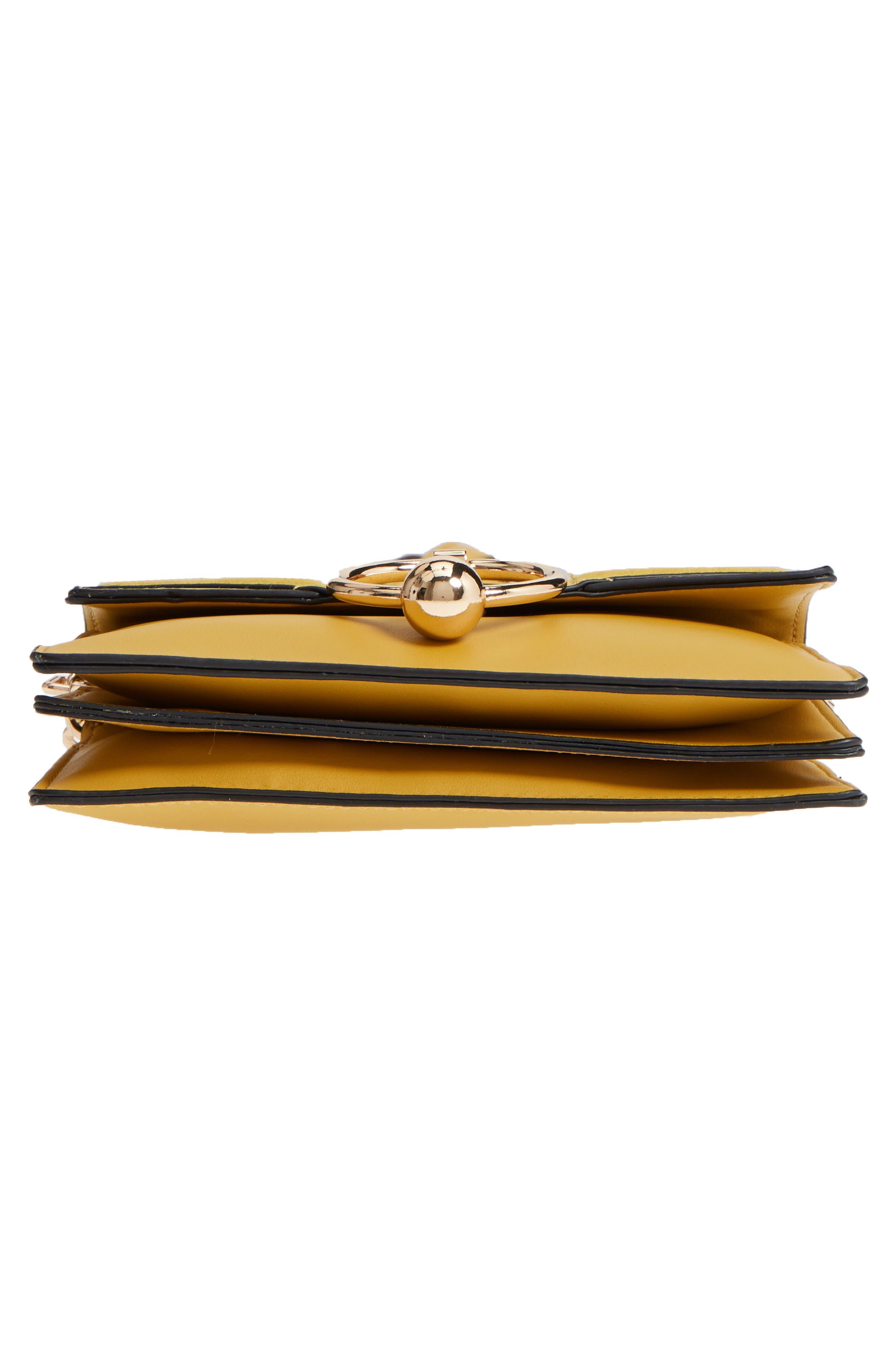 Seline Faux Leather Crossbody Bag,                             Alternate thumbnail 6, color,                             Yellow Multi