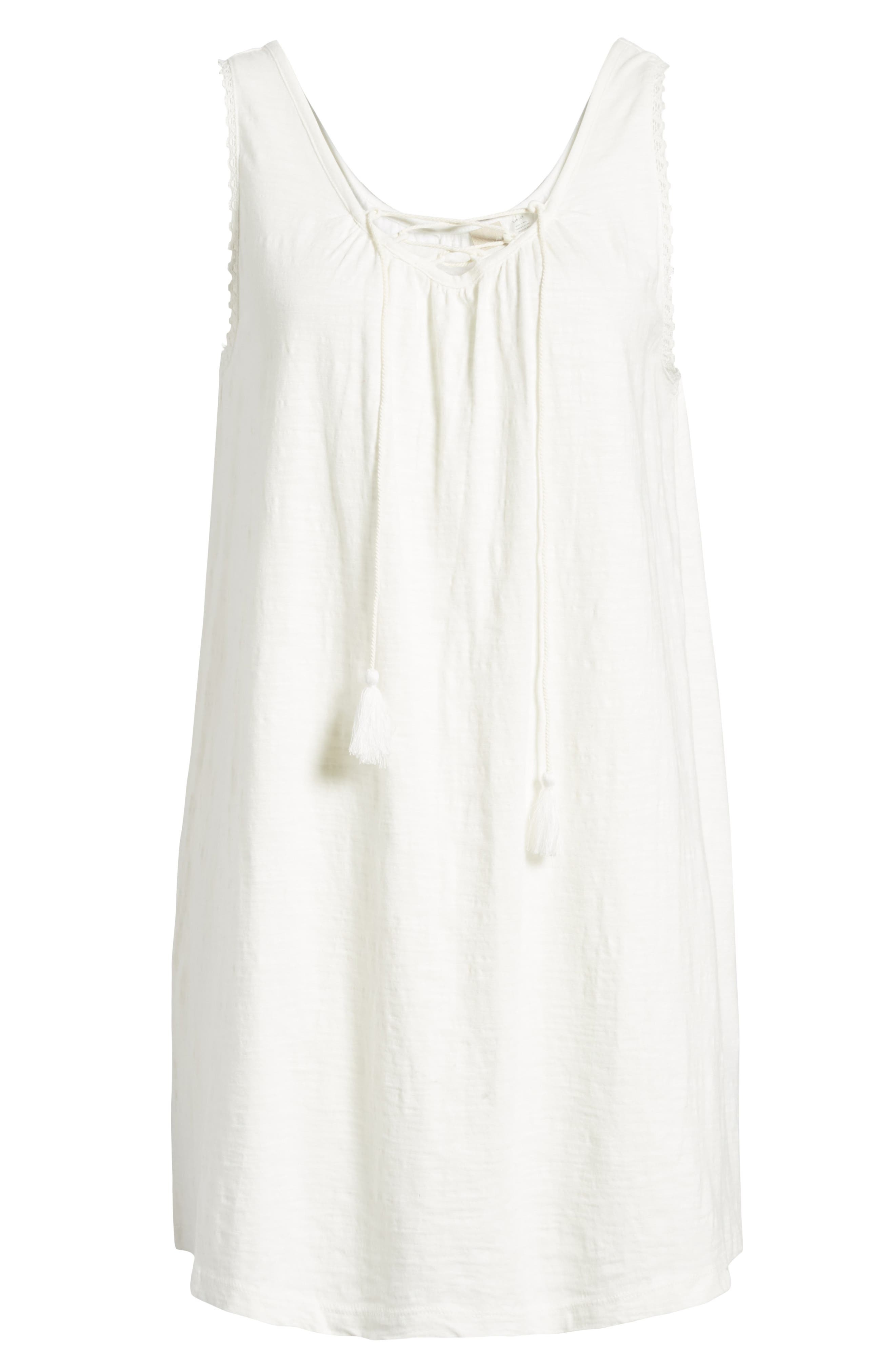 Aguila Lace Up Dress,                             Alternate thumbnail 7, color,                             Marshmallow