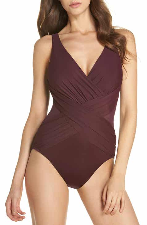 4a02fd130e Miraclesuit® Illusionist Crossover One-Piece Swimsuit