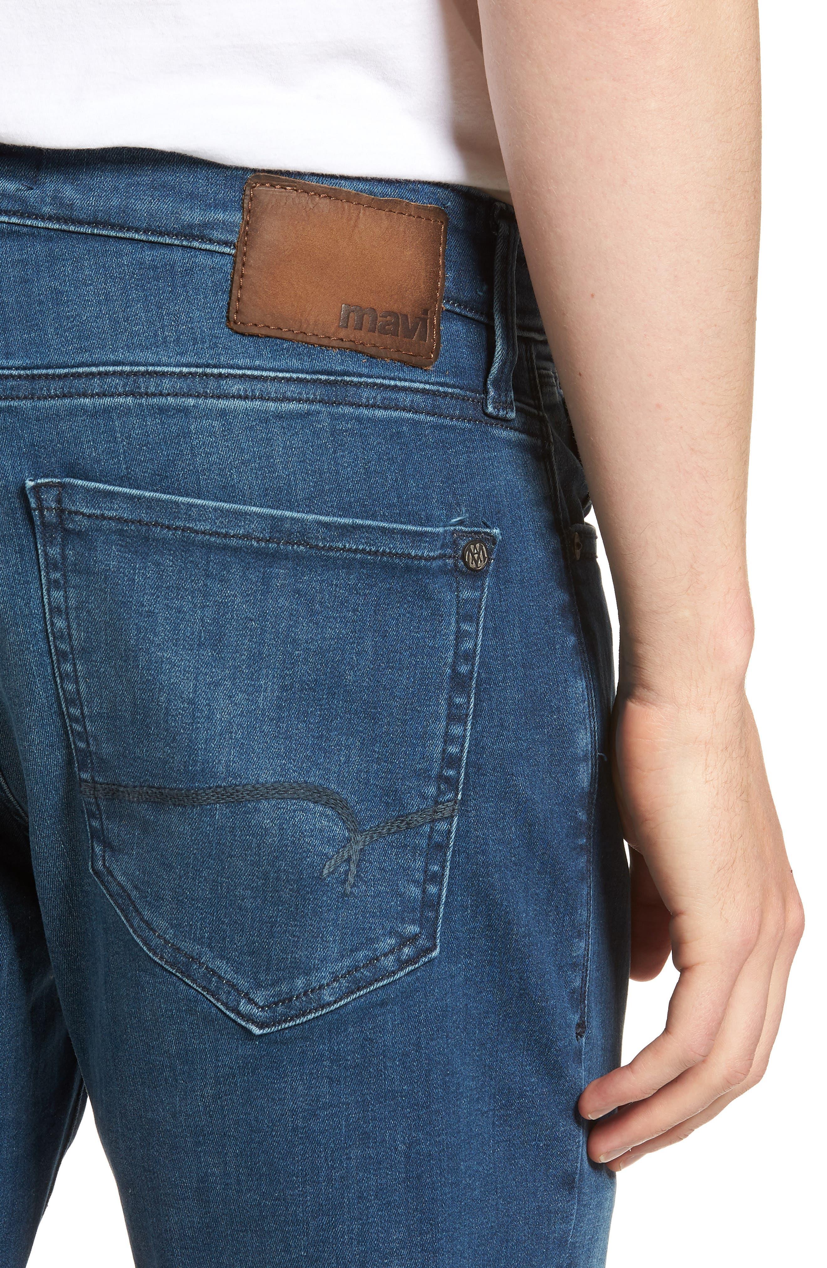 Marcus Slim Straight Leg Jeans,                             Alternate thumbnail 4, color,                             Mid Tonal Williamsburg