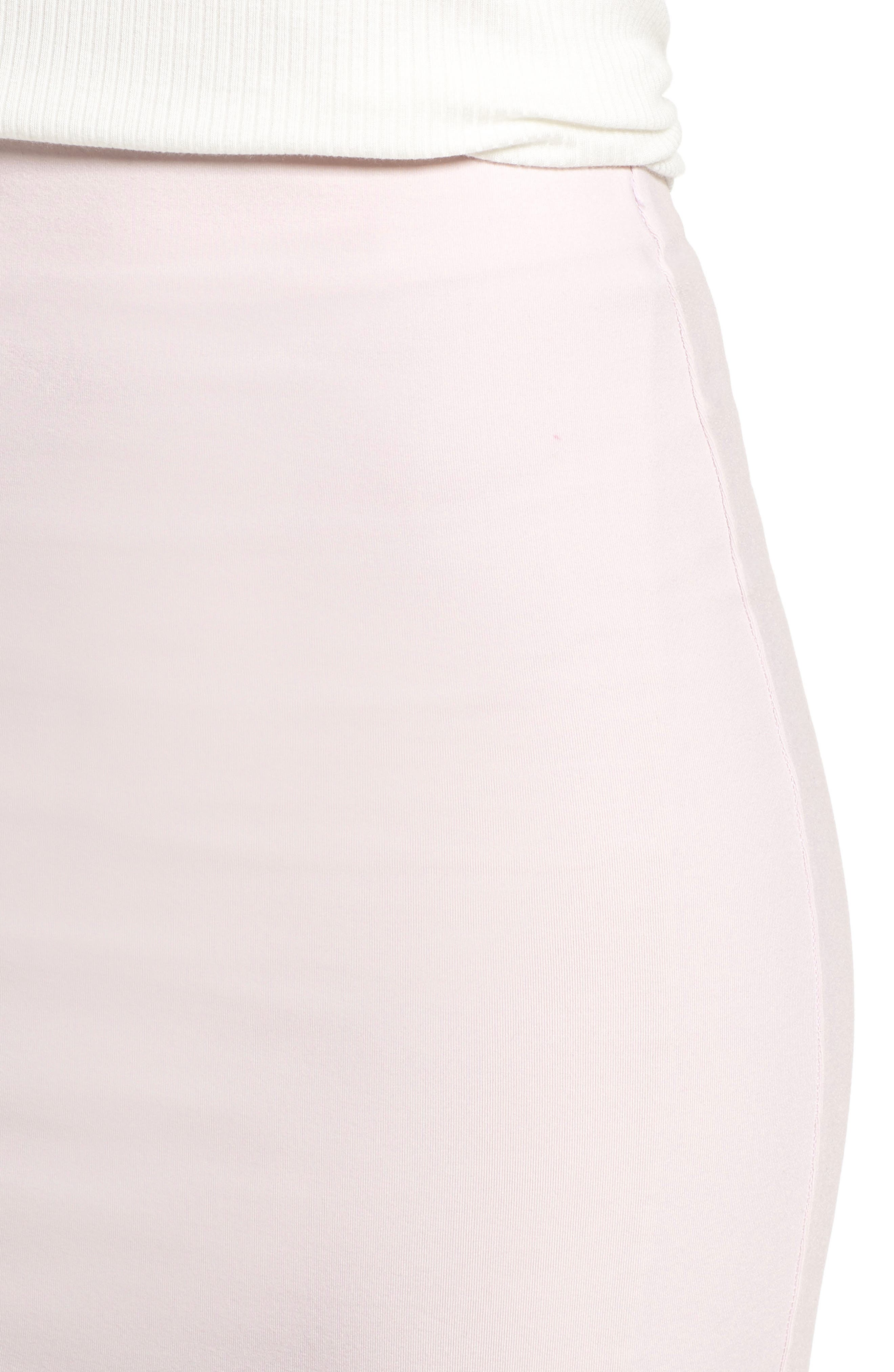 Tube High Rise Pencil Skirt,                             Alternate thumbnail 4, color,                             Soft Pink