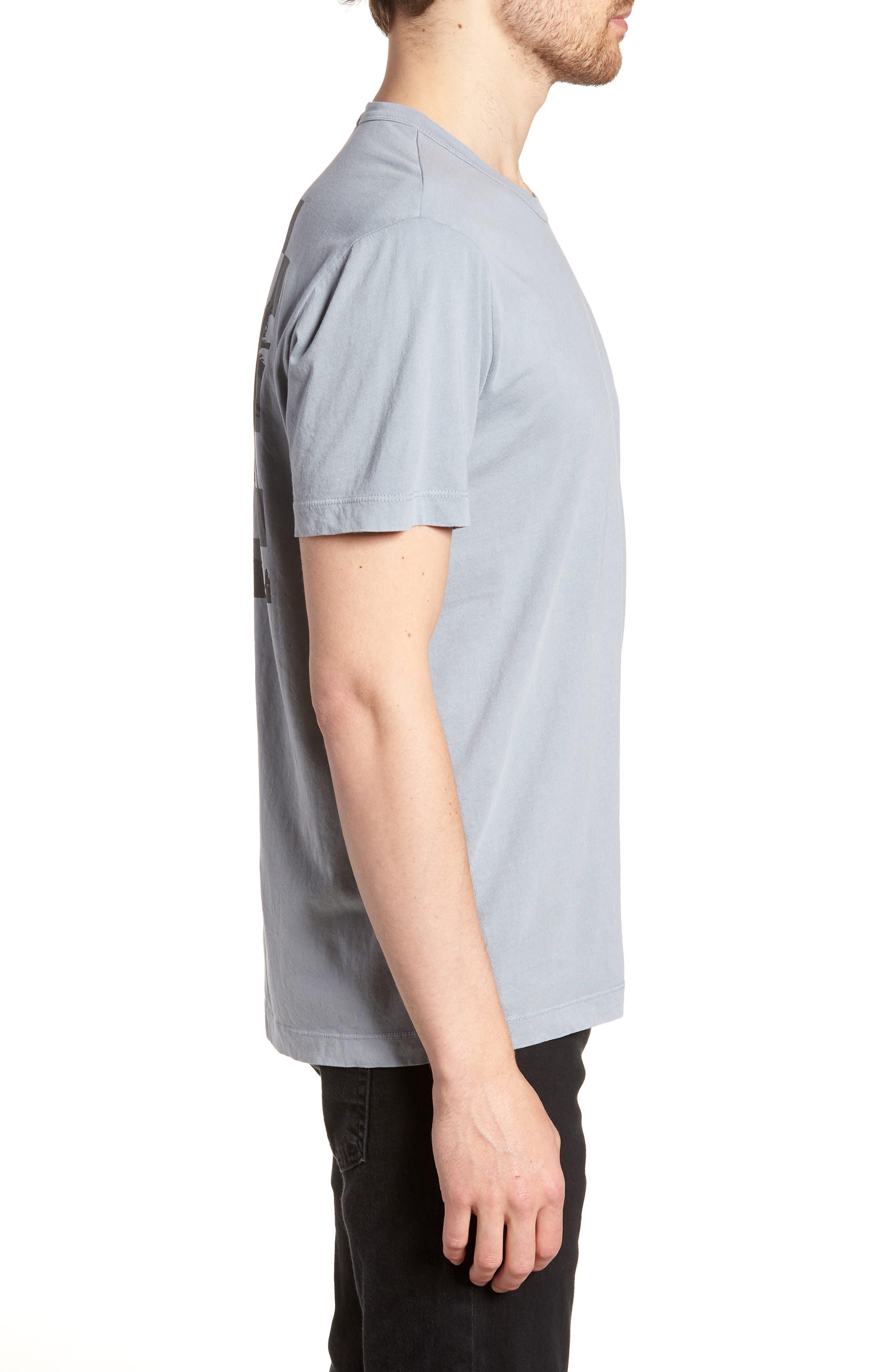 Checkerboard Crewneck T-Shirt,                             Alternate thumbnail 3, color,                             Grey Sky Pigment