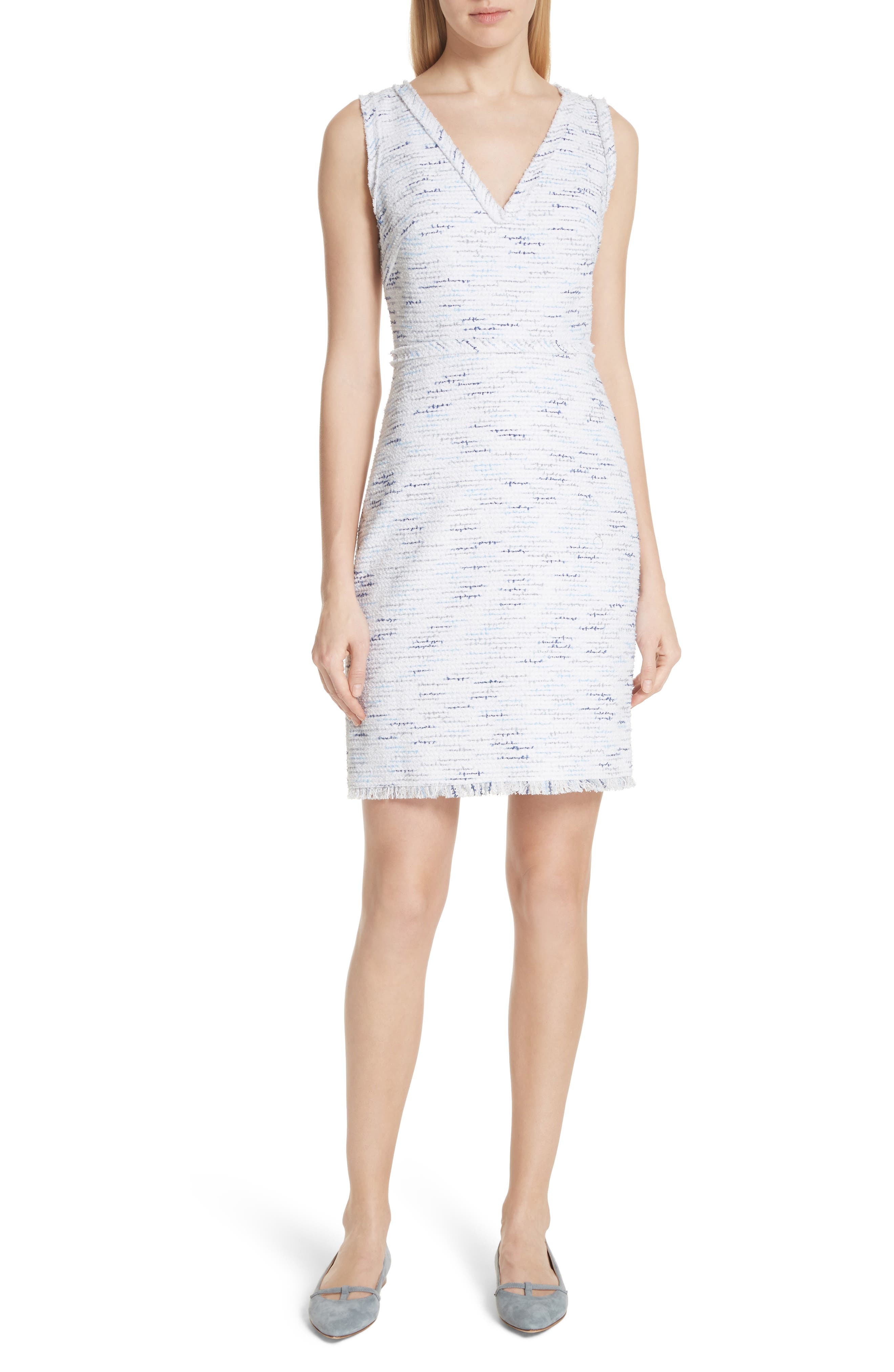 tweed sheath dress,                         Main,                         color, Multi