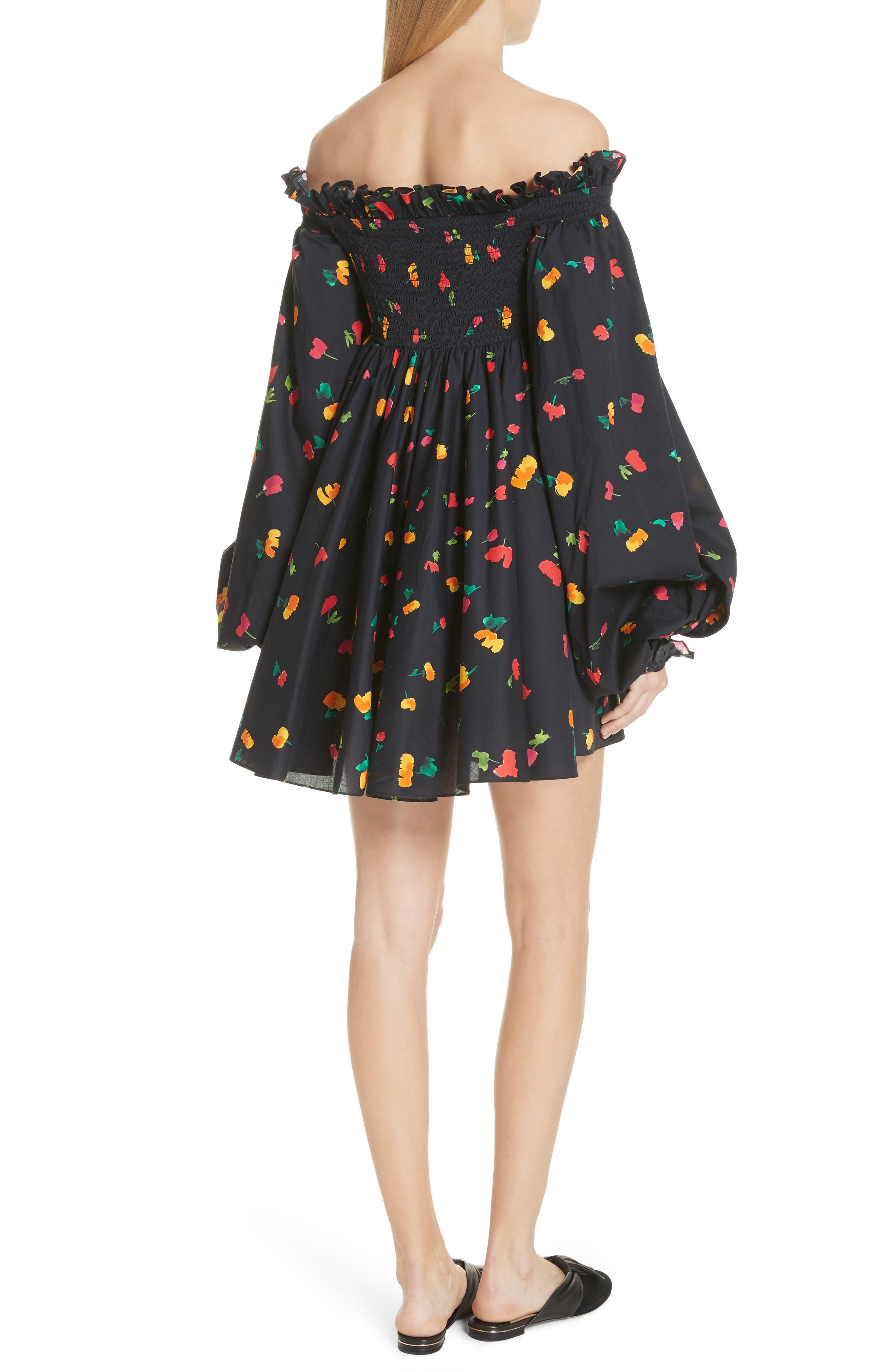 Kora Off the Shoulder Dress,                             Alternate thumbnail 2, color,                             Black