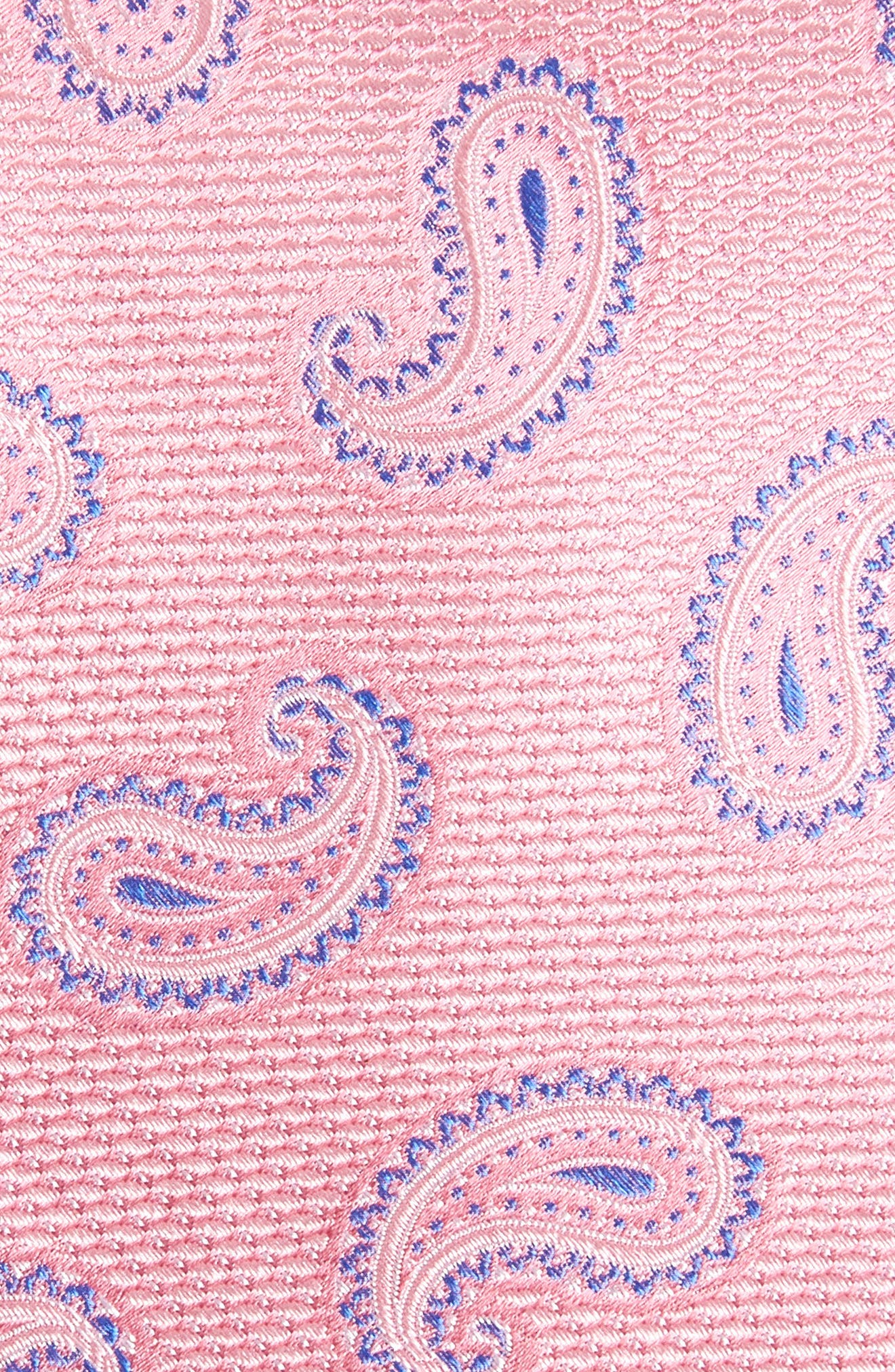 Jerome Paisley Silk Tie,                             Alternate thumbnail 2, color,                             Baby Pink