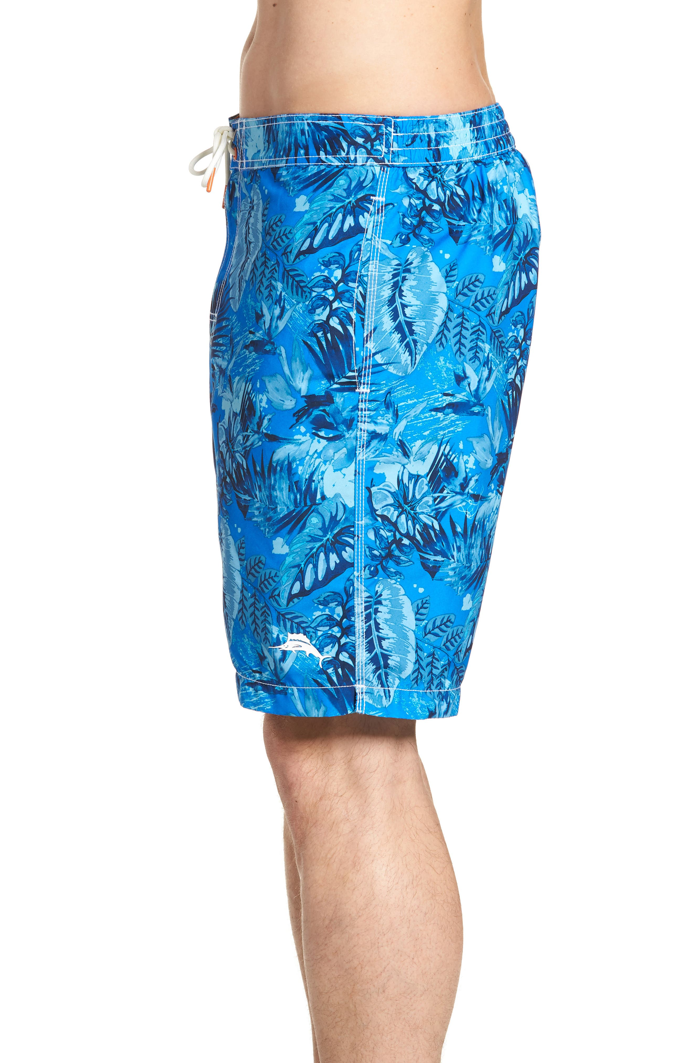 Baja Selva Shores Board Shorts,                             Alternate thumbnail 3, color,                             Blue Spark