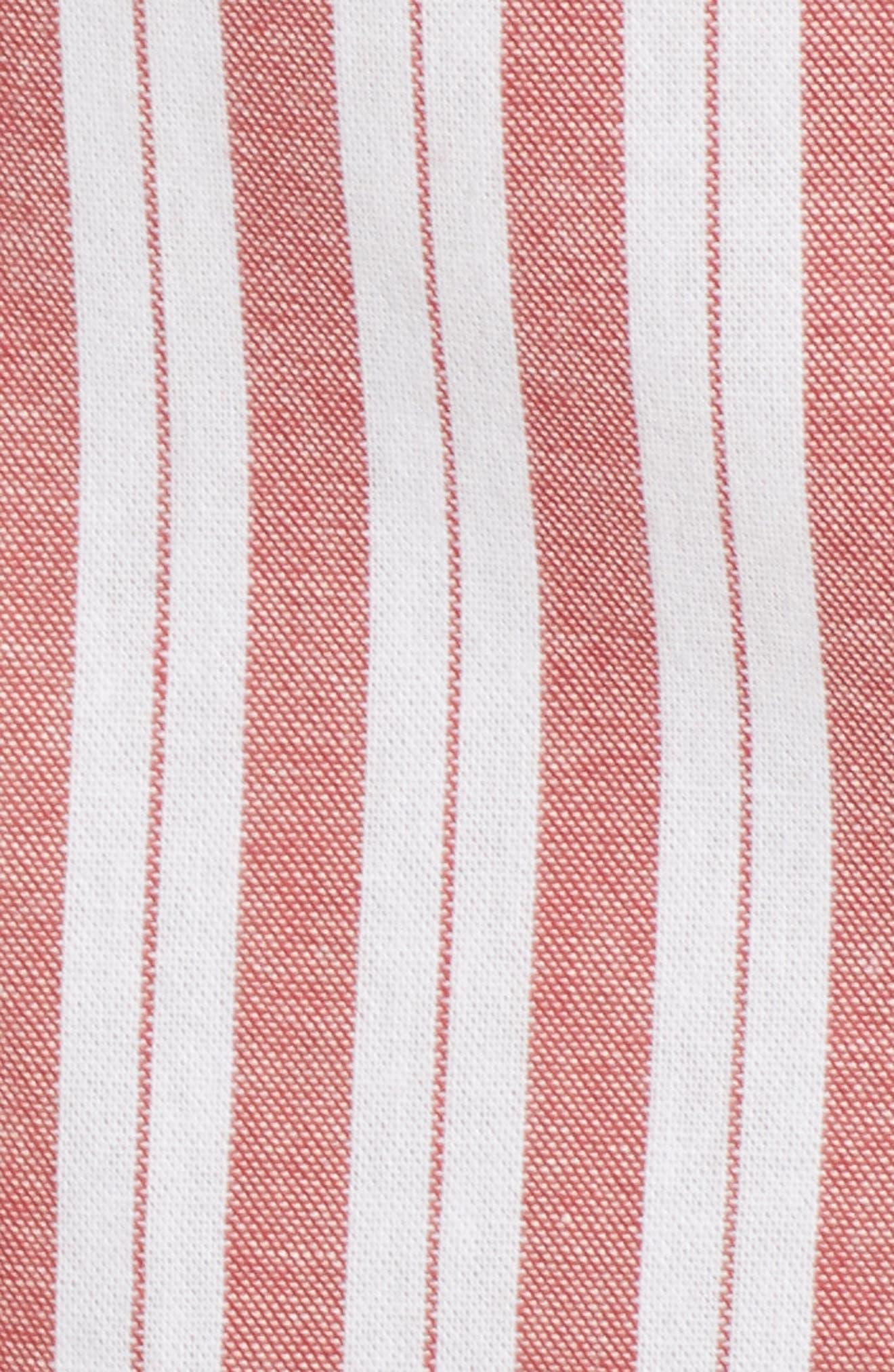 Acacia Stripe Ruffle Dress,                             Alternate thumbnail 7, color,                             White W Red
