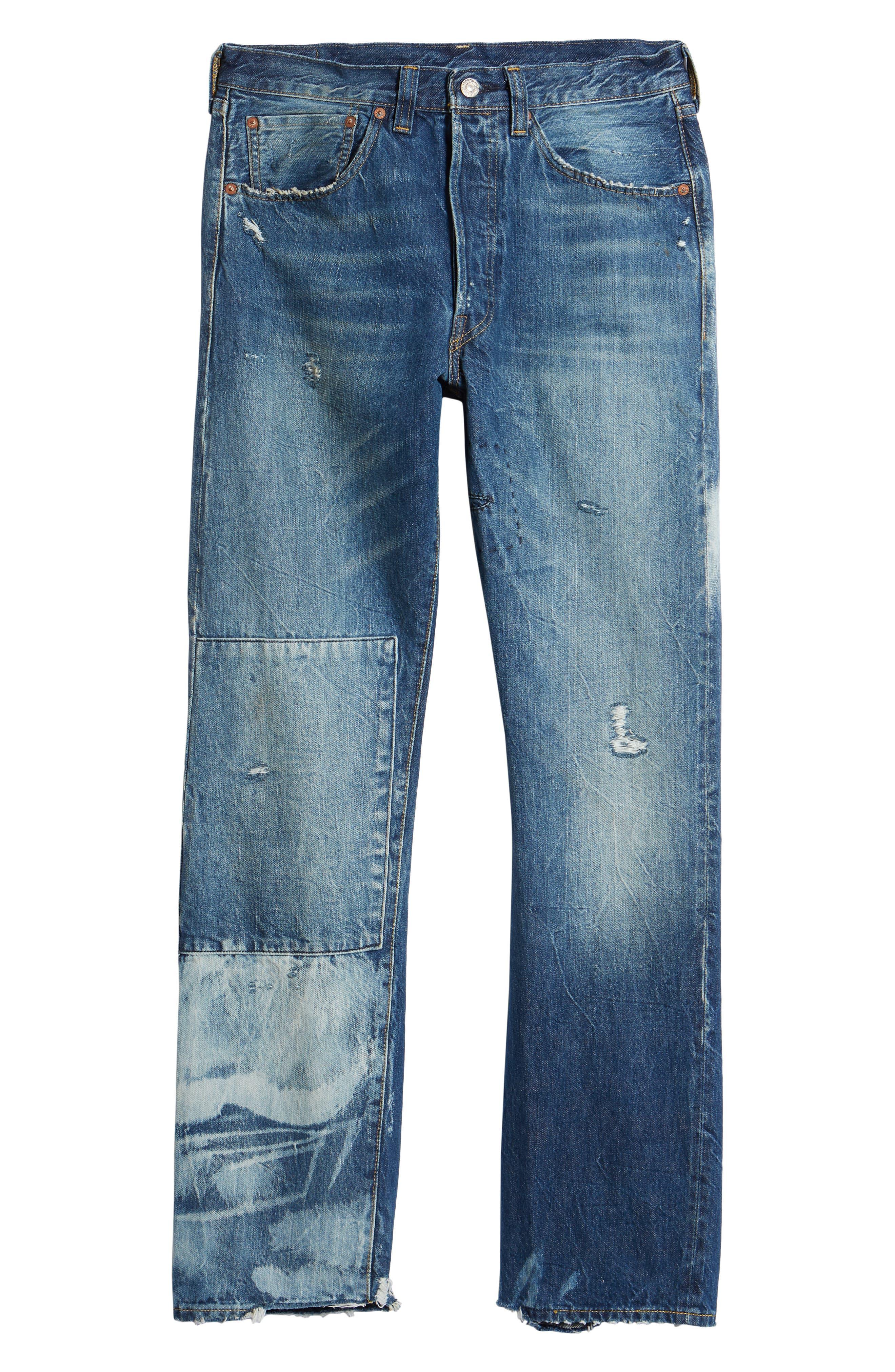 1947 501<sup>®</sup> Tapered Leg Jeans,                             Alternate thumbnail 6, color,                             Reef Break