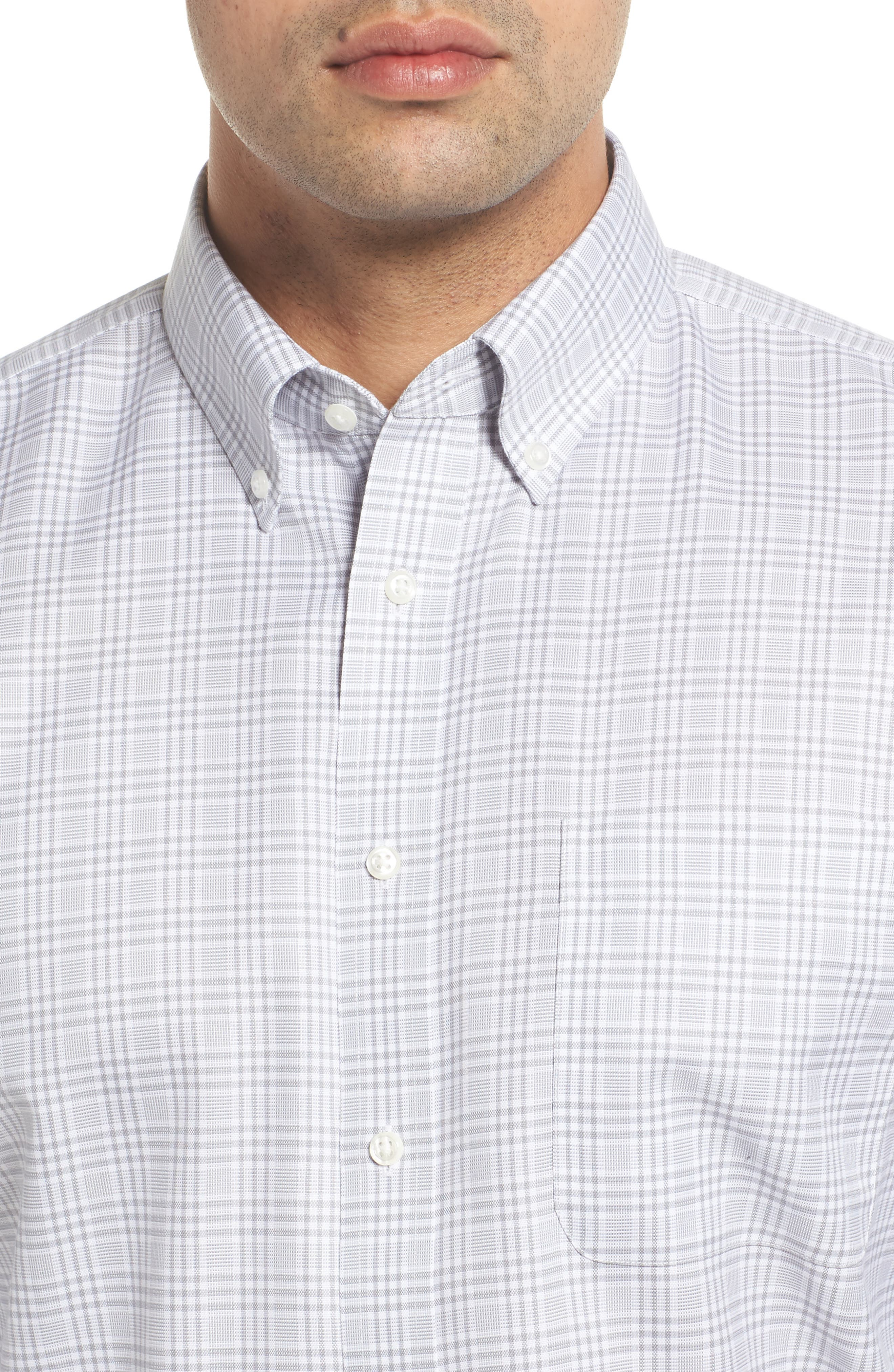 Smartcare<sup>™</sup> Traditional Fit Plaid Dress Shirt,                             Alternate thumbnail 2, color,                             Grey Sleet
