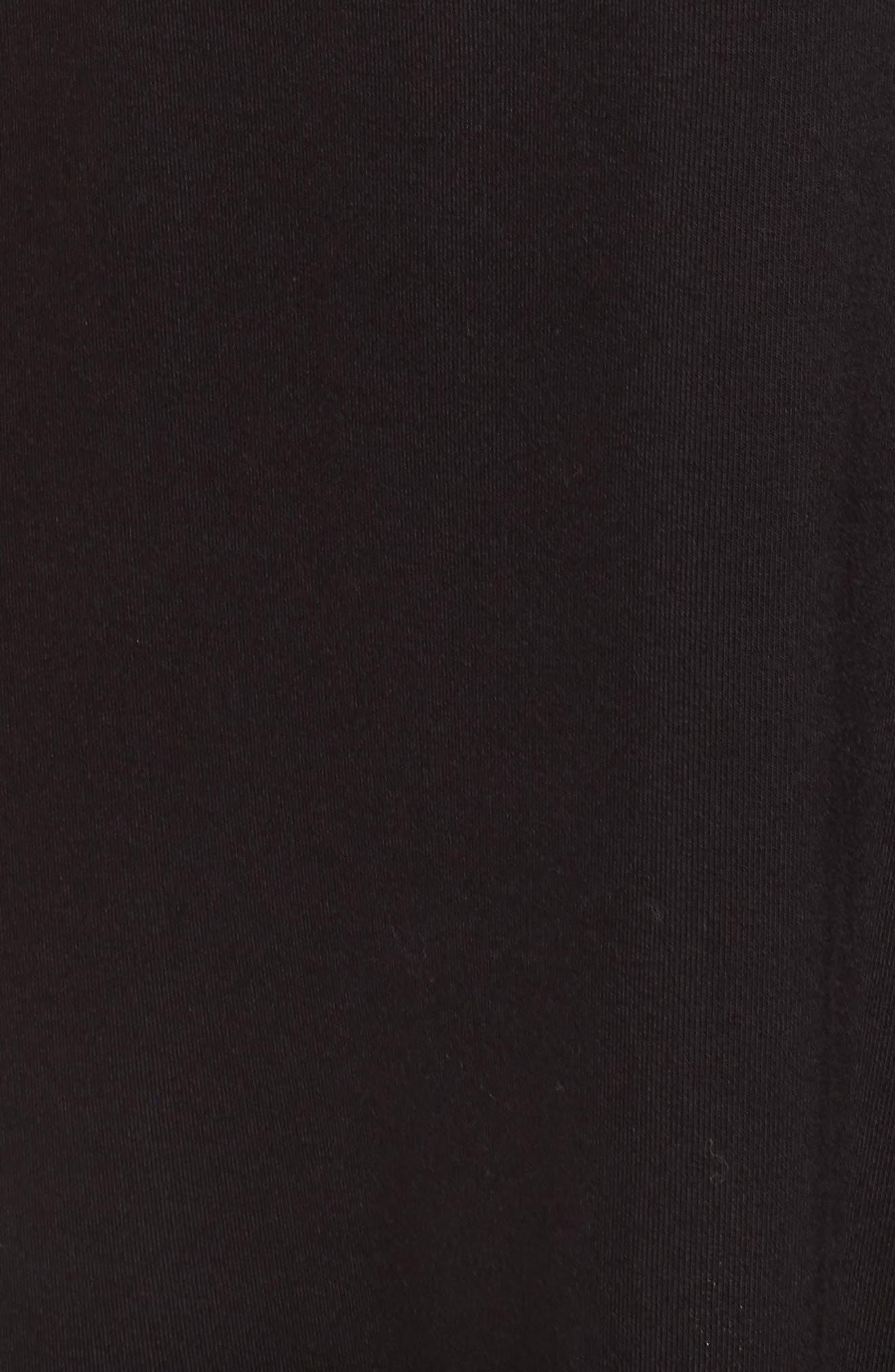 Hyde Cold Shoulder T-Shirt Dress,                             Alternate thumbnail 6, color,                             Black