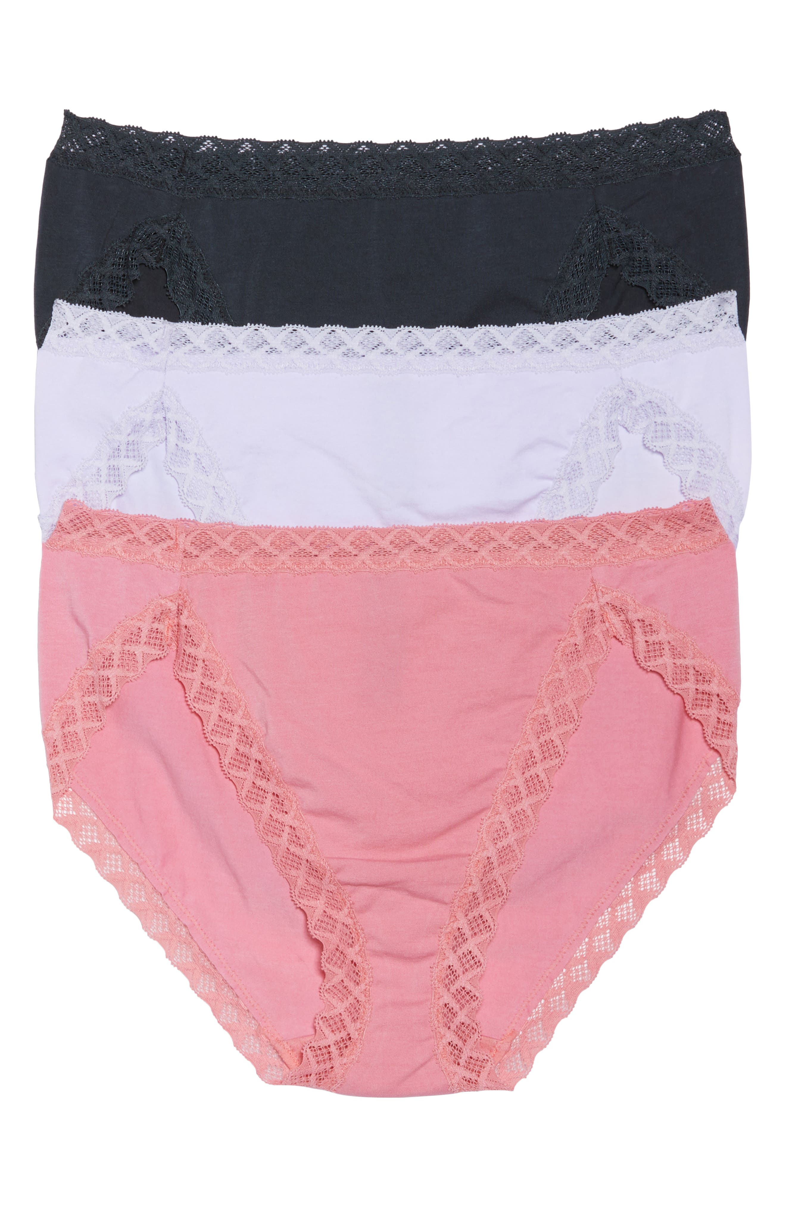 Alternate Image 1 Selected - Natori 'Bliss' French Cut Briefs (3-Pack)