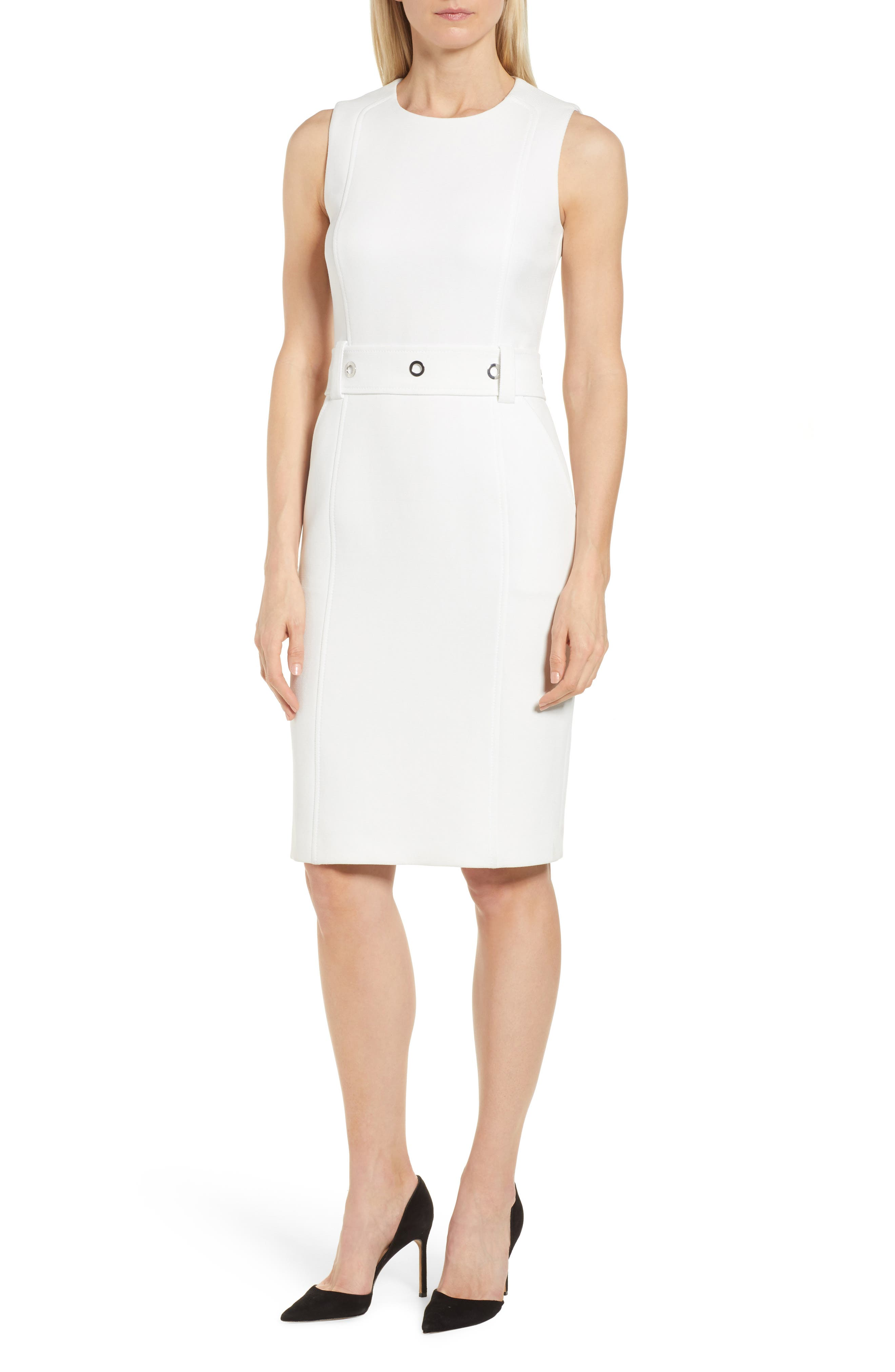 BOSS Duleama Compact Twill Dress (Regular & Petite)