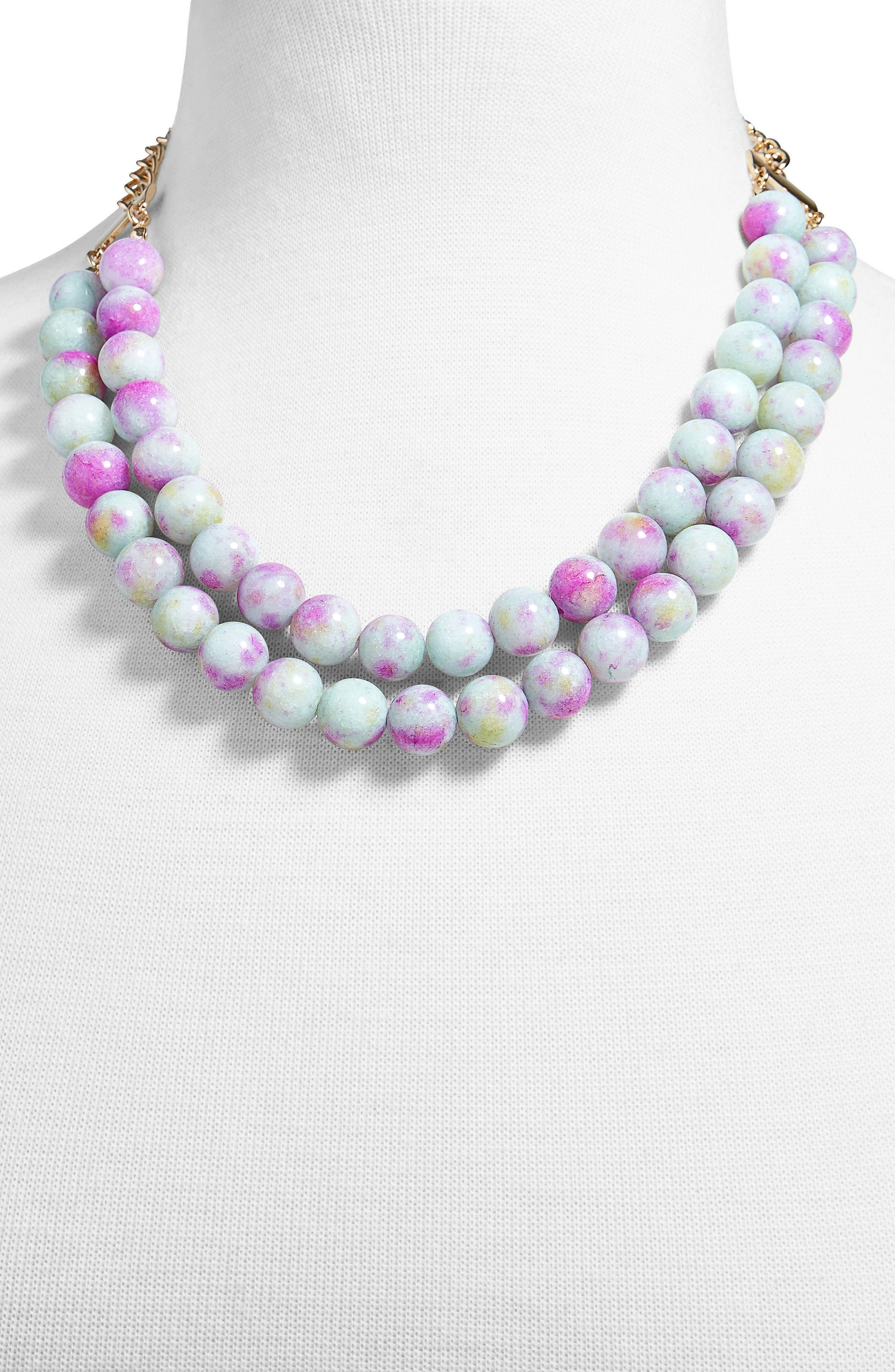 Beverlyn Statement Necklace,                             Alternate thumbnail 2, color,                             Purple
