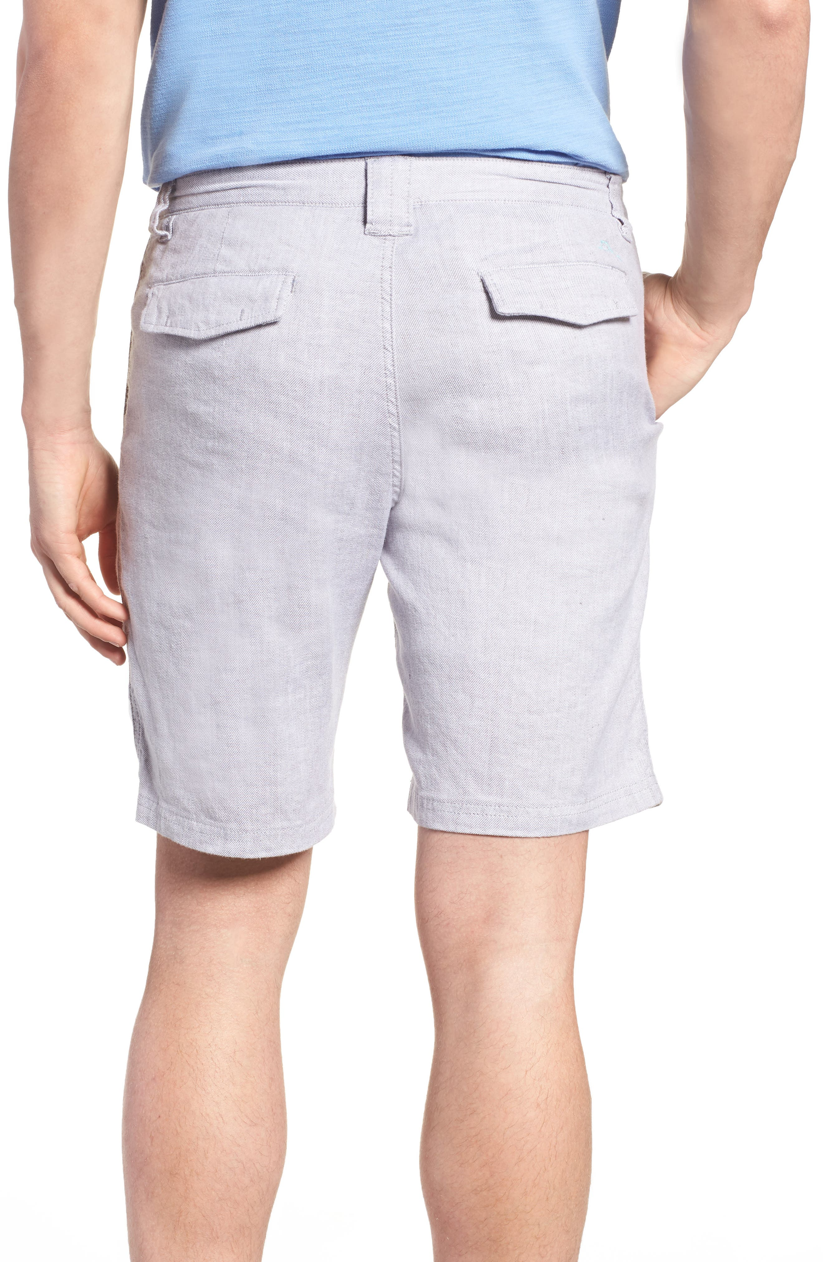 Beach Linen Blend Shorts,                             Alternate thumbnail 2, color,                             Storm Gray