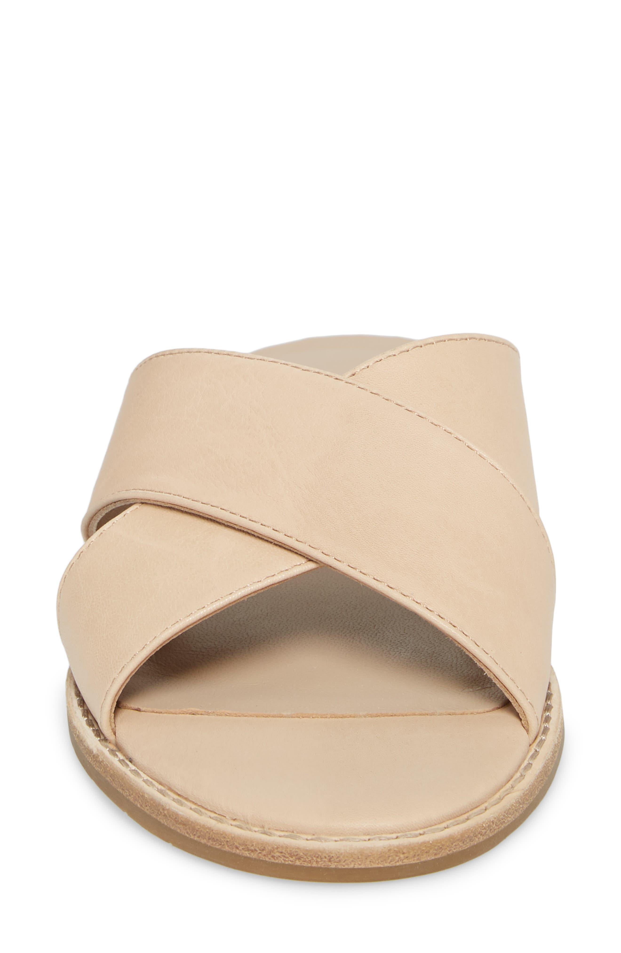 Cape Slide Sandal,                             Alternate thumbnail 4, color,                             Desert Leather