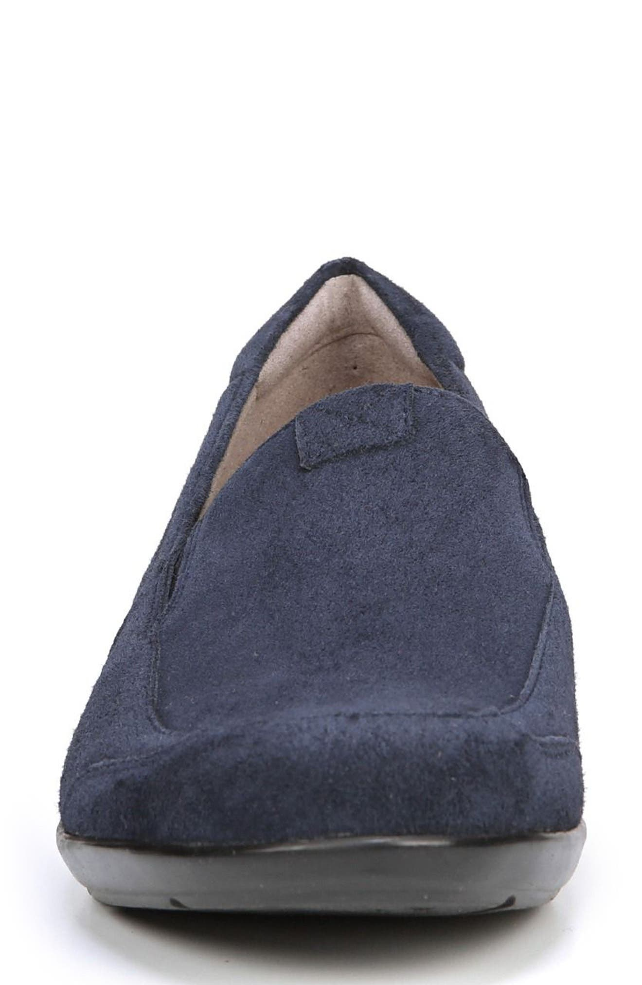 'Channing' Loafer,                             Alternate thumbnail 4, color,                             Navy Suede