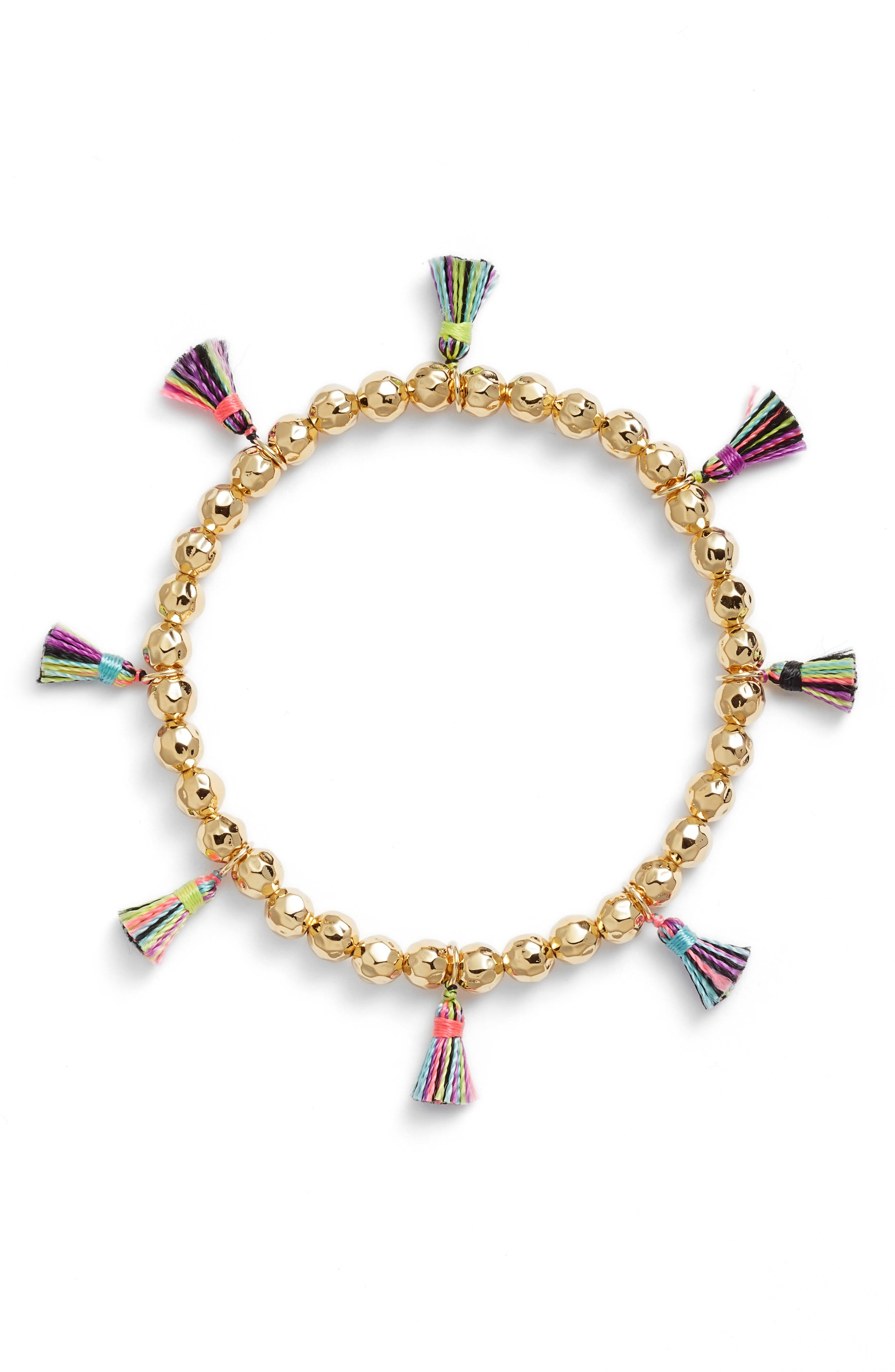 Havana Tassel Bracelet,                             Main thumbnail 1, color,                             Tropic