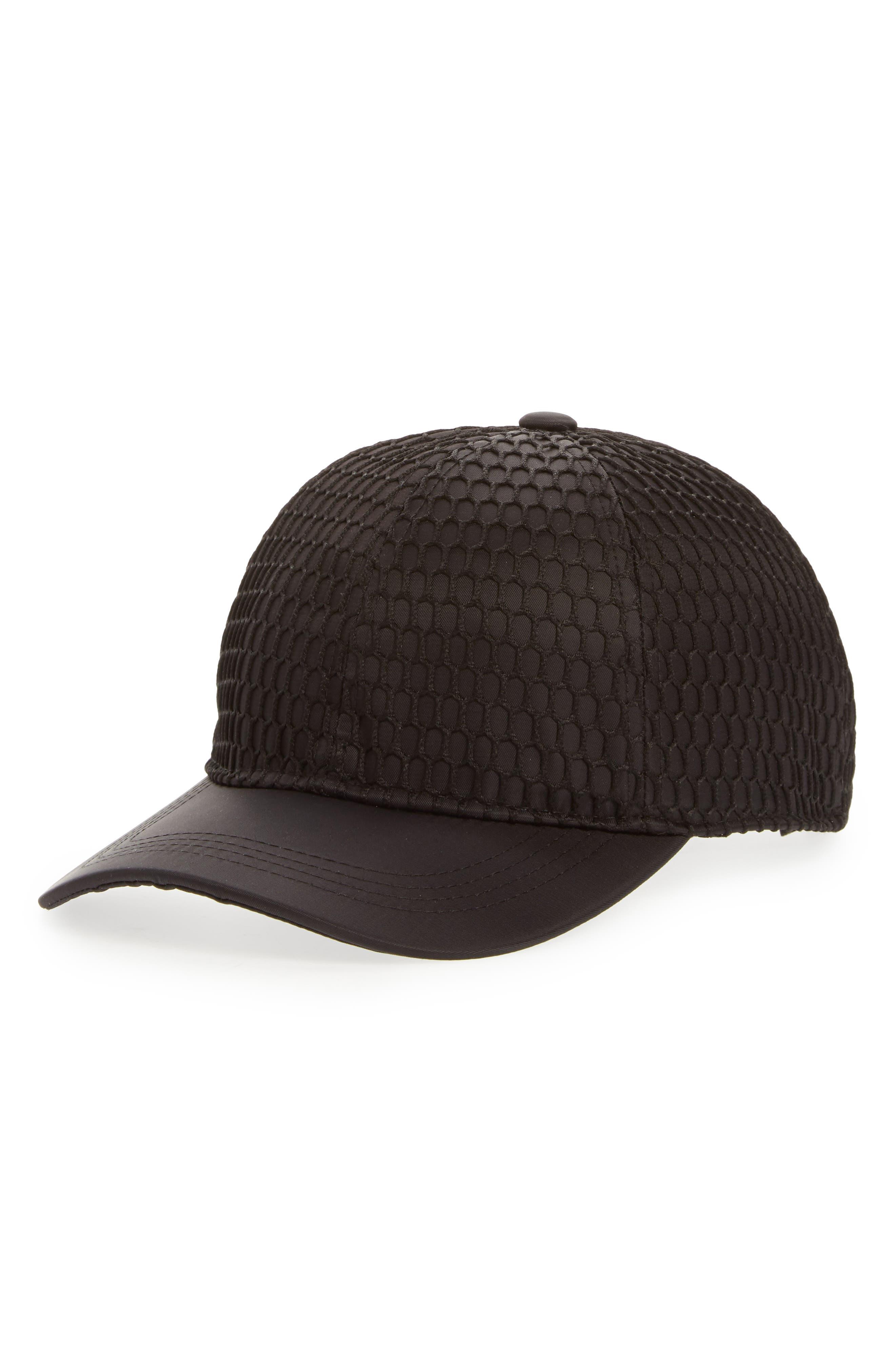Mesh Crown Baseball Cap,                         Main,                         color, Black