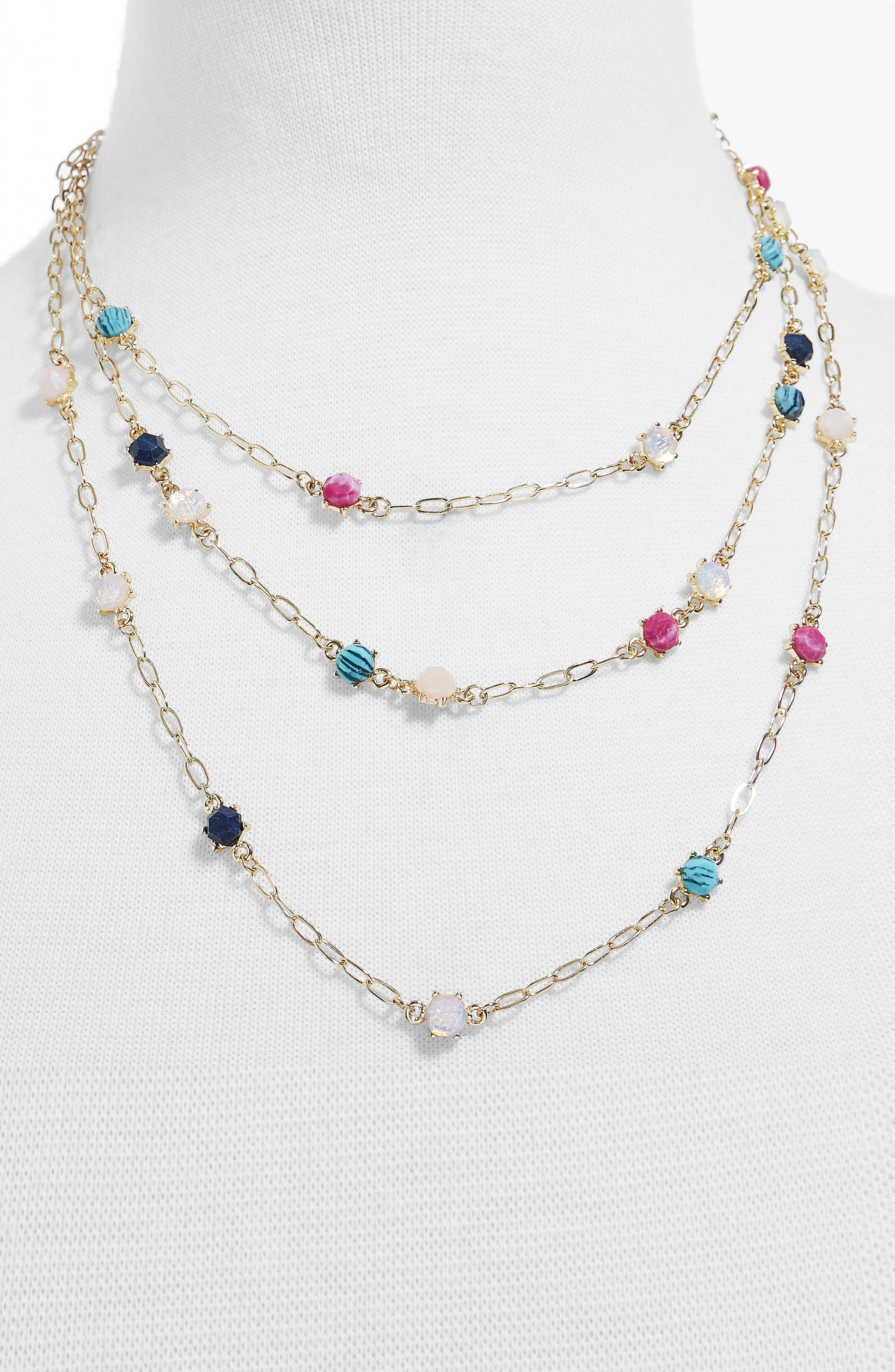 Luzetta Layered Necklace,                             Alternate thumbnail 2, color,                             Multi