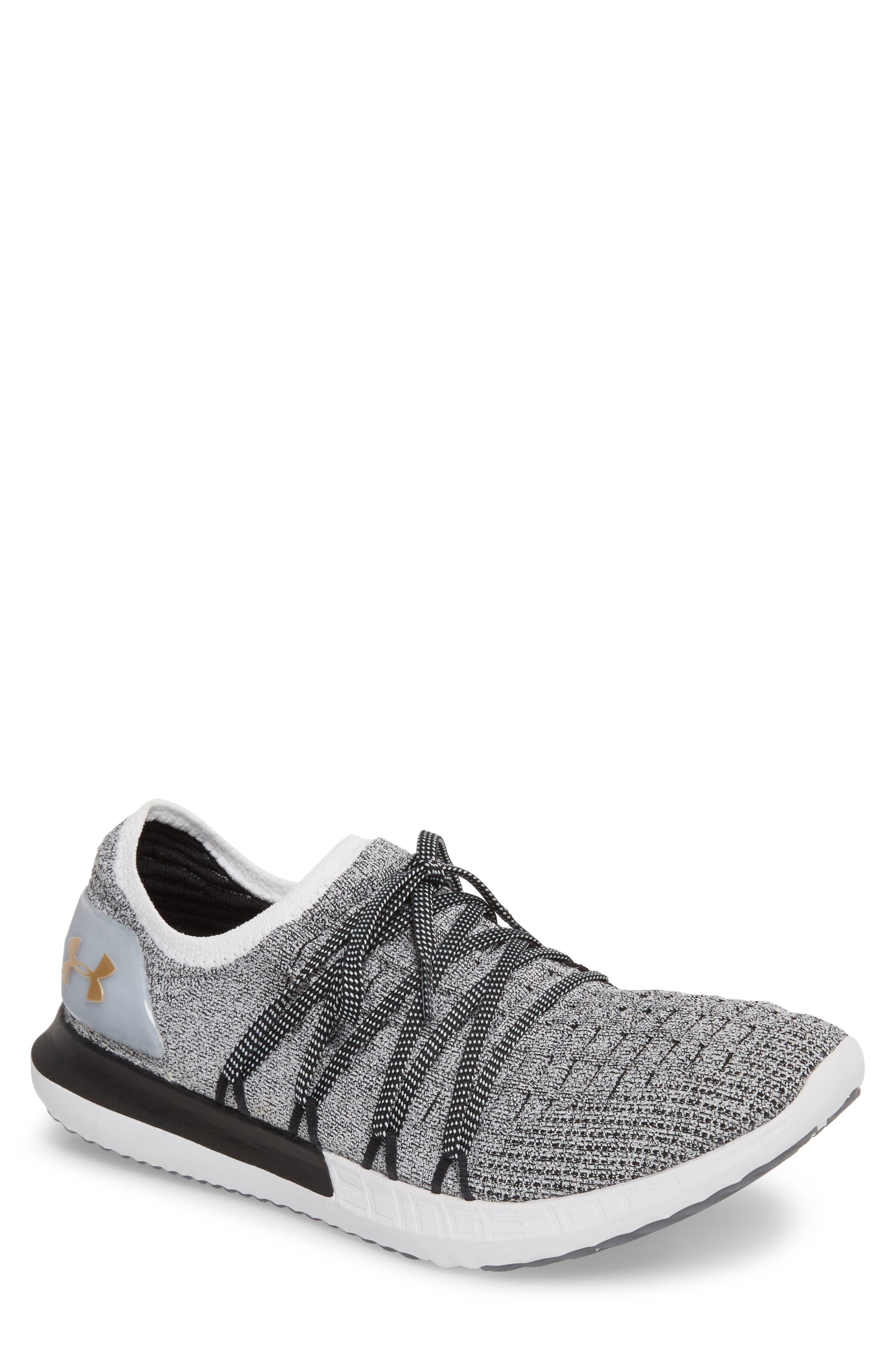 Speedform<sup>®</sup> Slingshot 2 Sneaker,                             Main thumbnail 1, color,                             White / Black / Metallic Gold