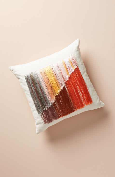 Anthropologie Atmospheric Fringe Accent Pillow