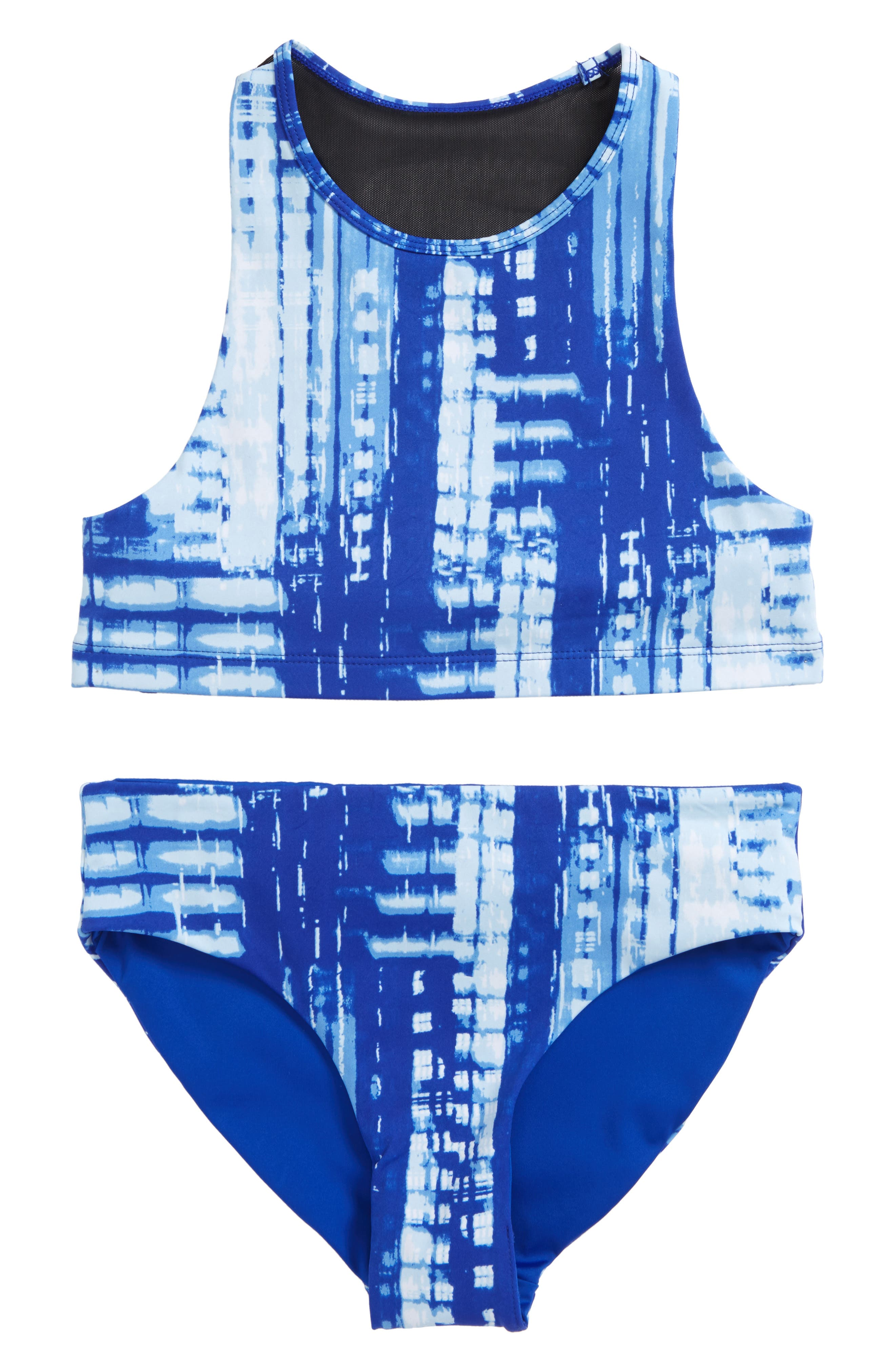 Alternate Image 1 Selected - Zella Girl Two-Piece Racerback Swimsuit (Big Girls)