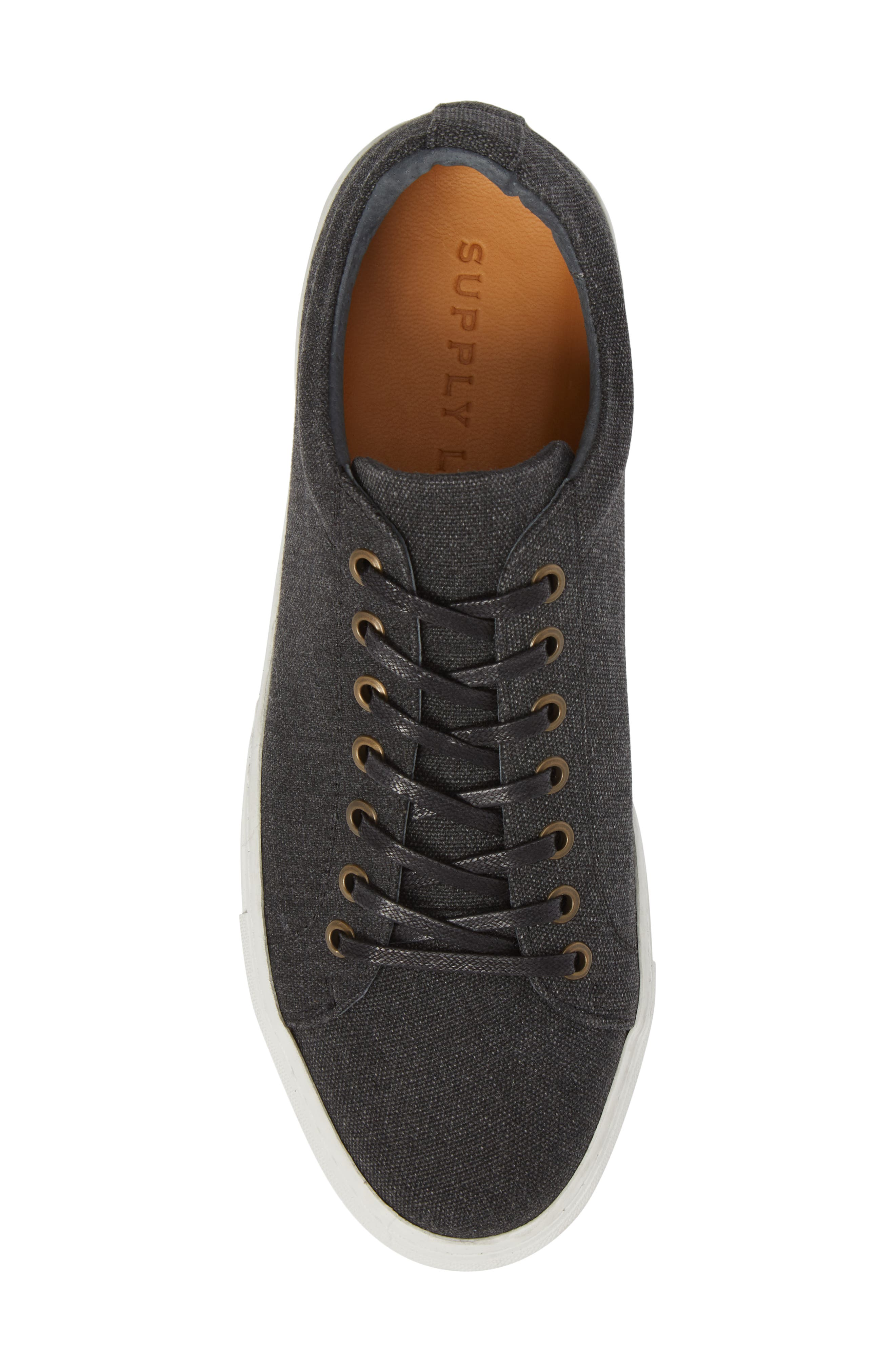 Mark Low Top Sneaker,                             Alternate thumbnail 5, color,                             Black Canvas