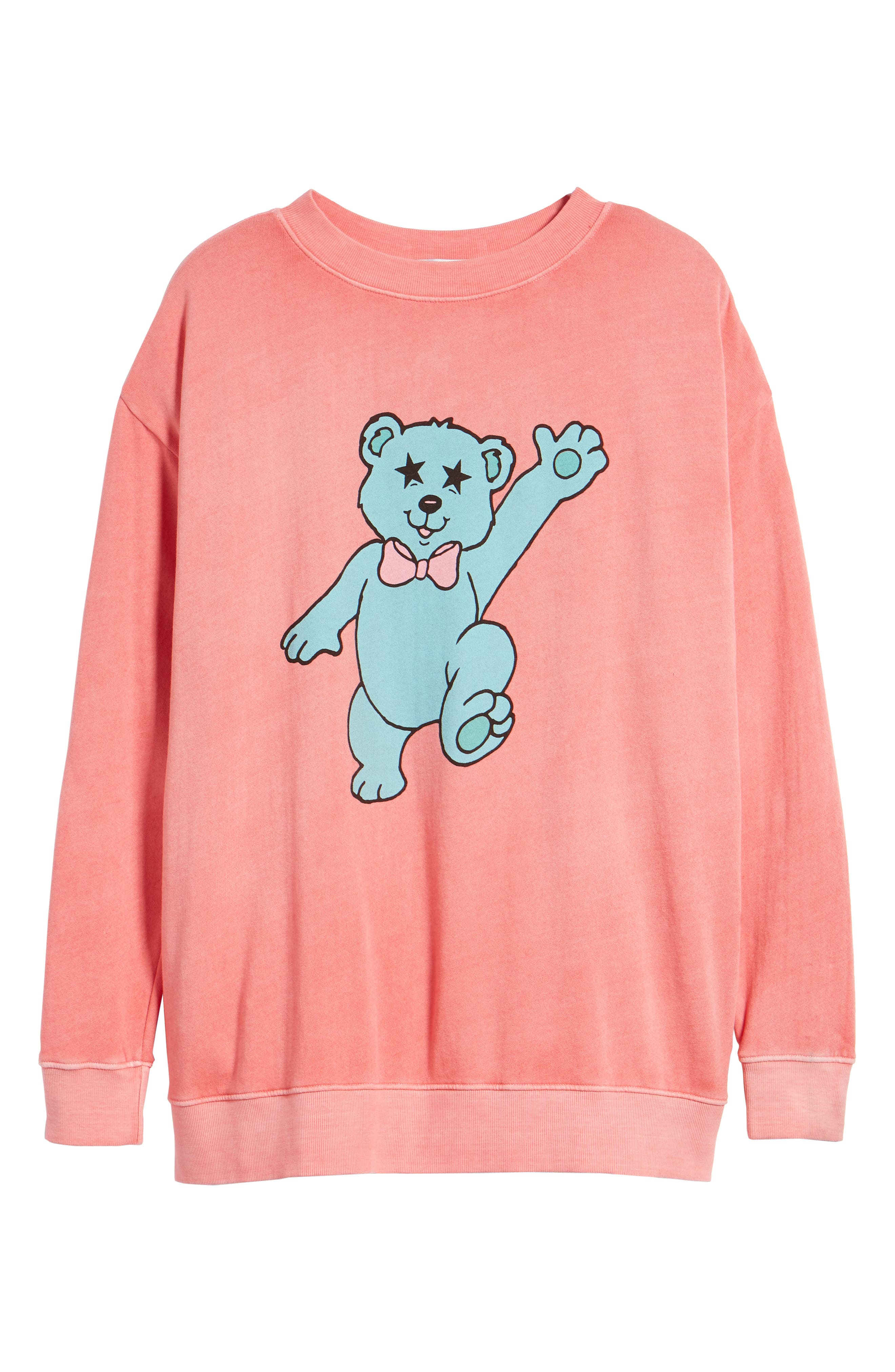 Groovy Teddy Road Trip Pullover Sweatshirt,                             Alternate thumbnail 7, color,                             Pigment Red Flare