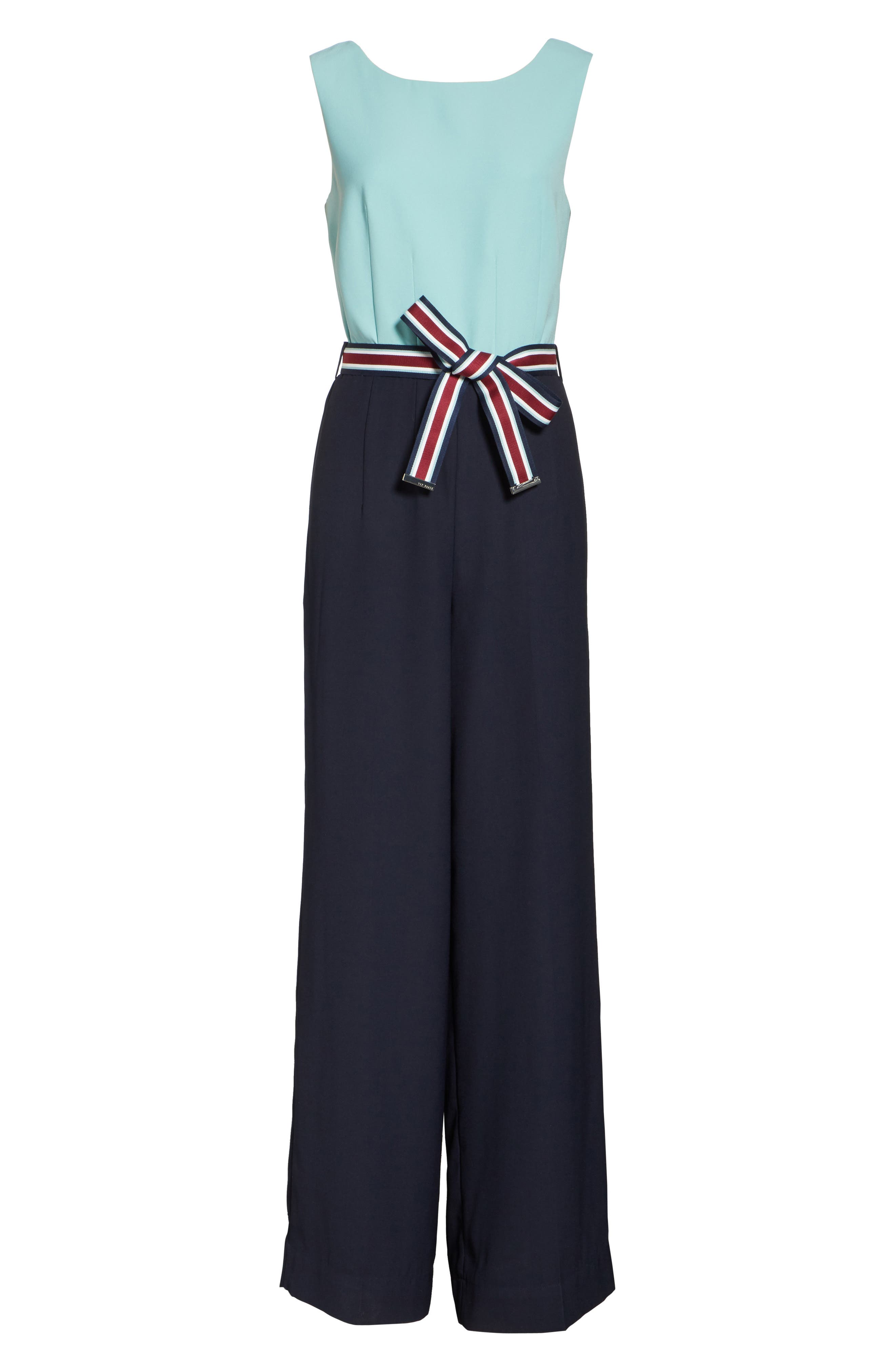 Alternate Image 6  - Ted Baker London Colour by Numbers Colorblock Jumpsuit