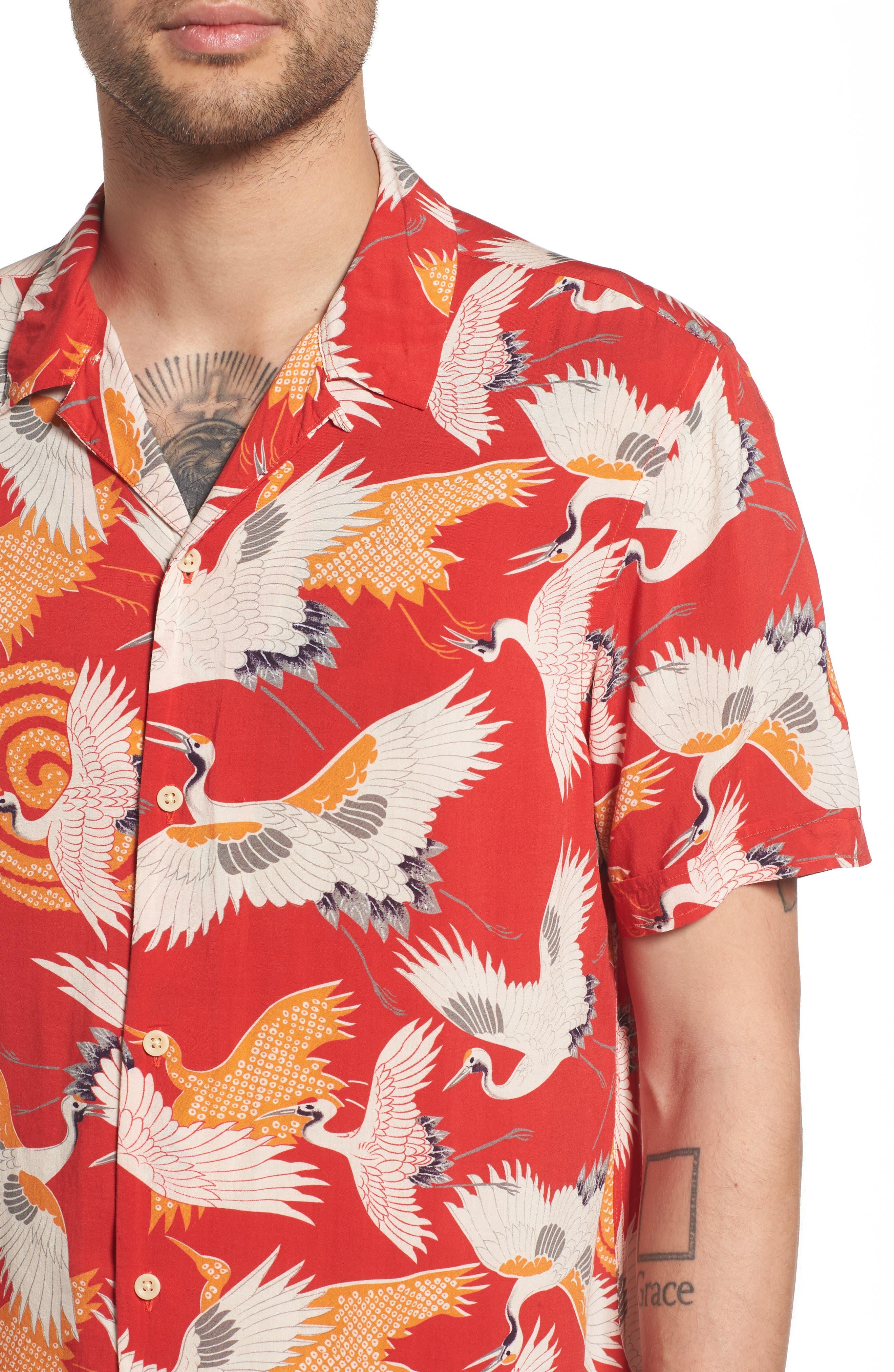 Tsuru Regular Fit Short Sleeve Sport Shirt,                             Alternate thumbnail 2, color,                             Red