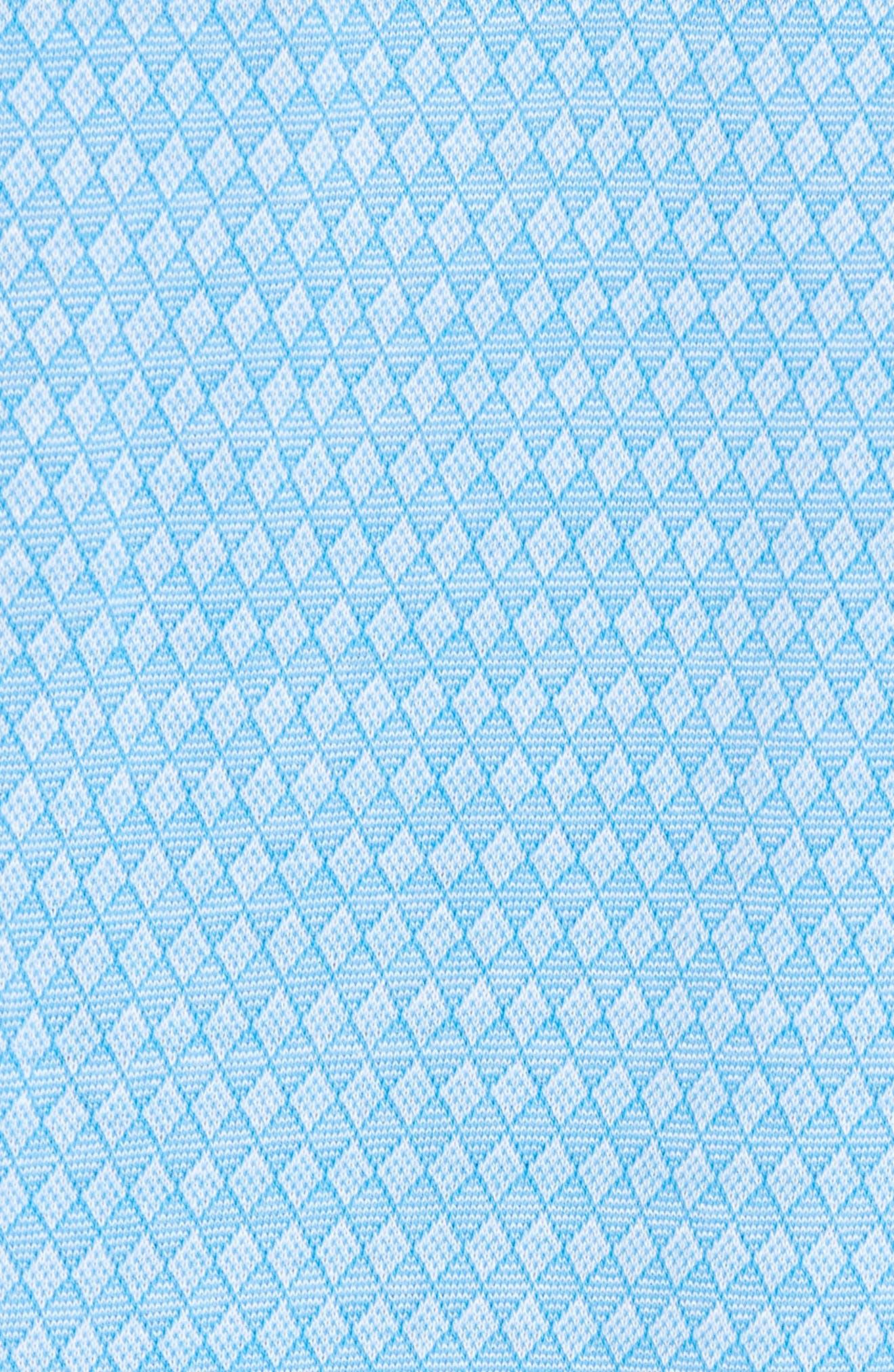 Regular Fit Diamond Jacquard Polo,                             Alternate thumbnail 5, color,                             Aqua