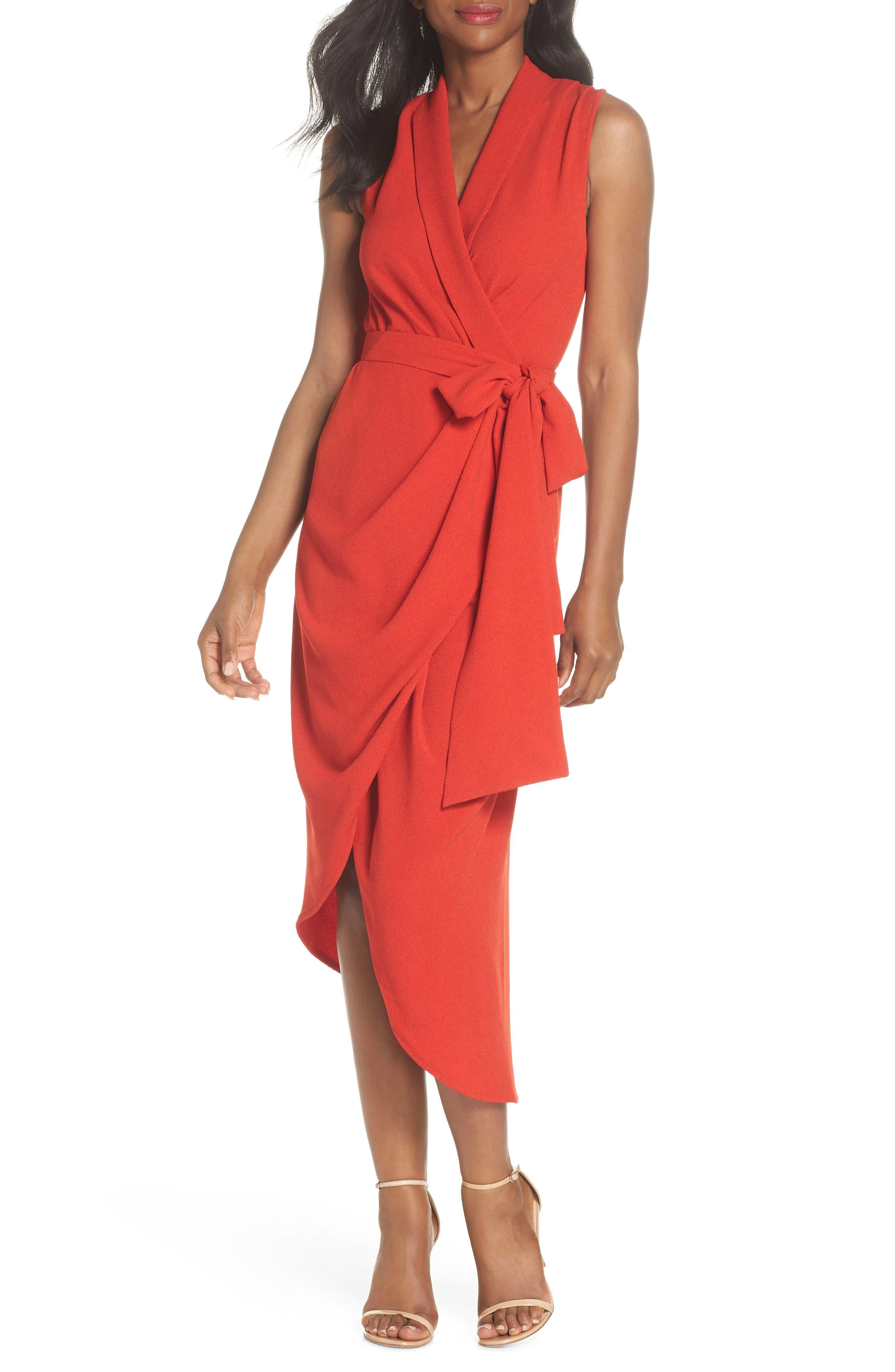 C/MEO Collective Entice Asymmetrical Wrap Dress