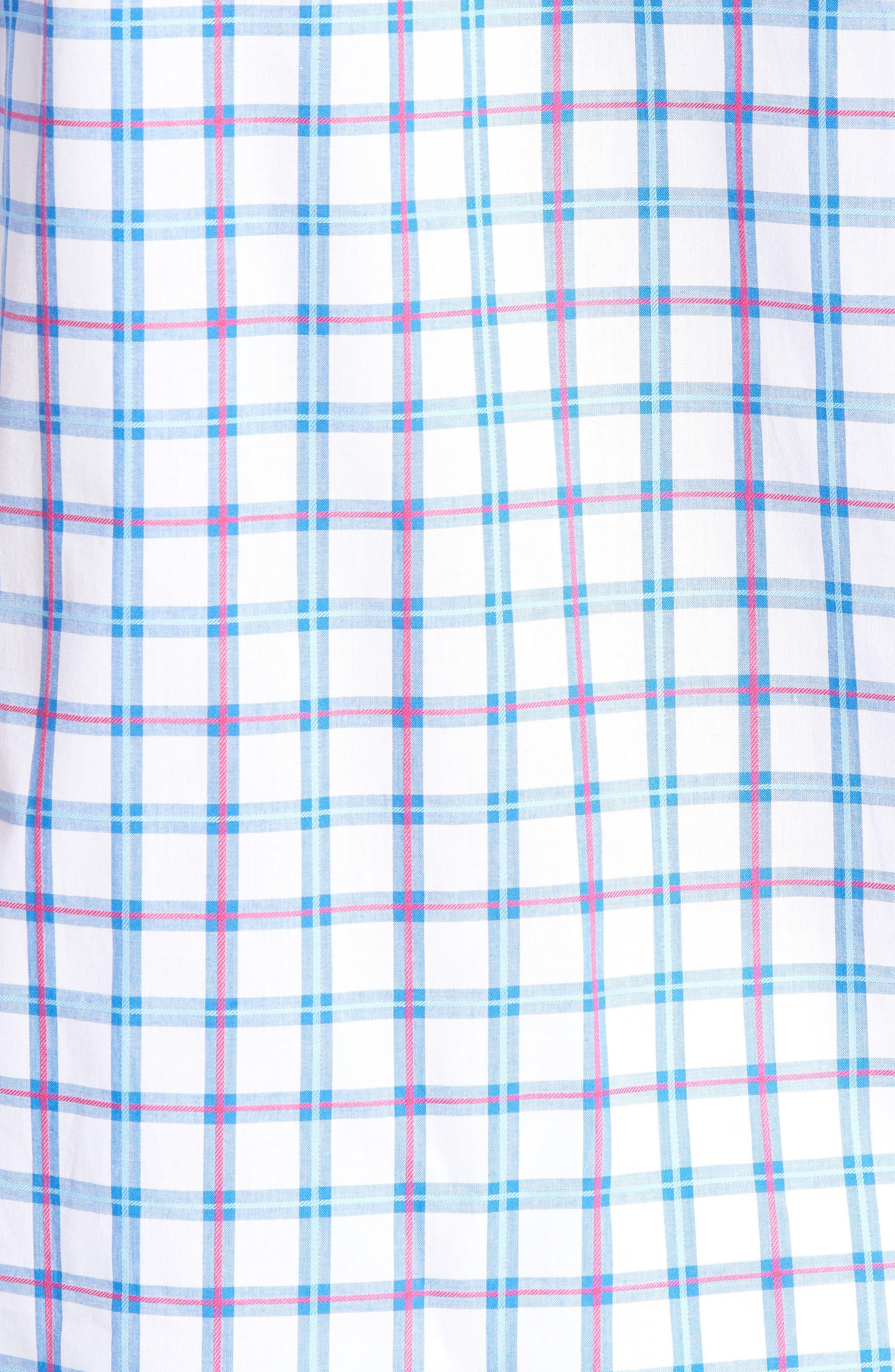 Arman Regular Fit Windowpane Sport Shirt,                             Alternate thumbnail 5, color,                             Light Blue