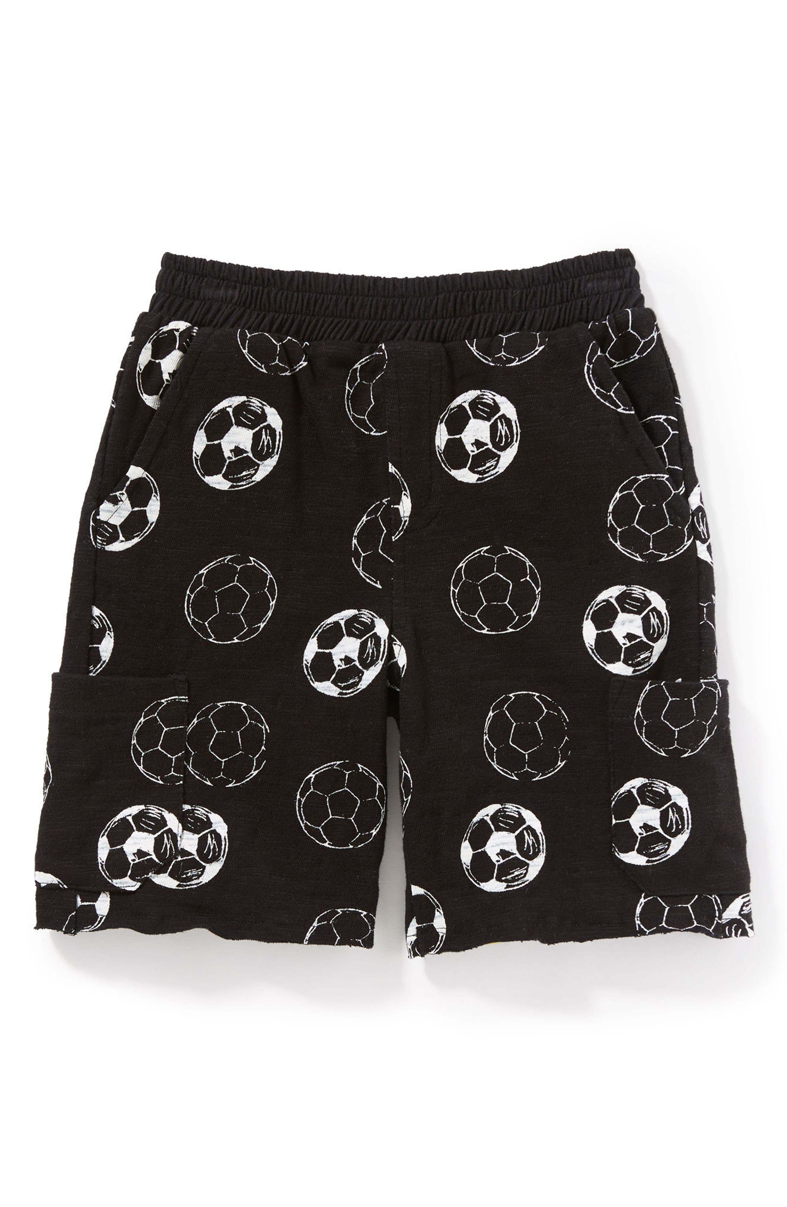 Soccer Ball Shorts,                             Main thumbnail 1, color,                             Black