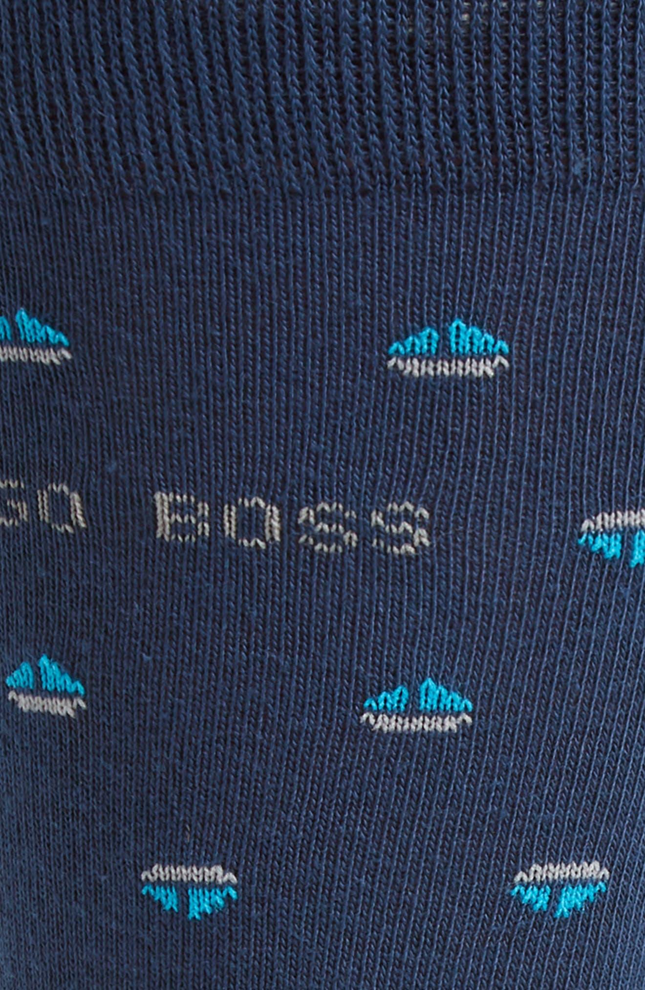 Boat Crew Socks,                             Alternate thumbnail 2, color,                             Blue