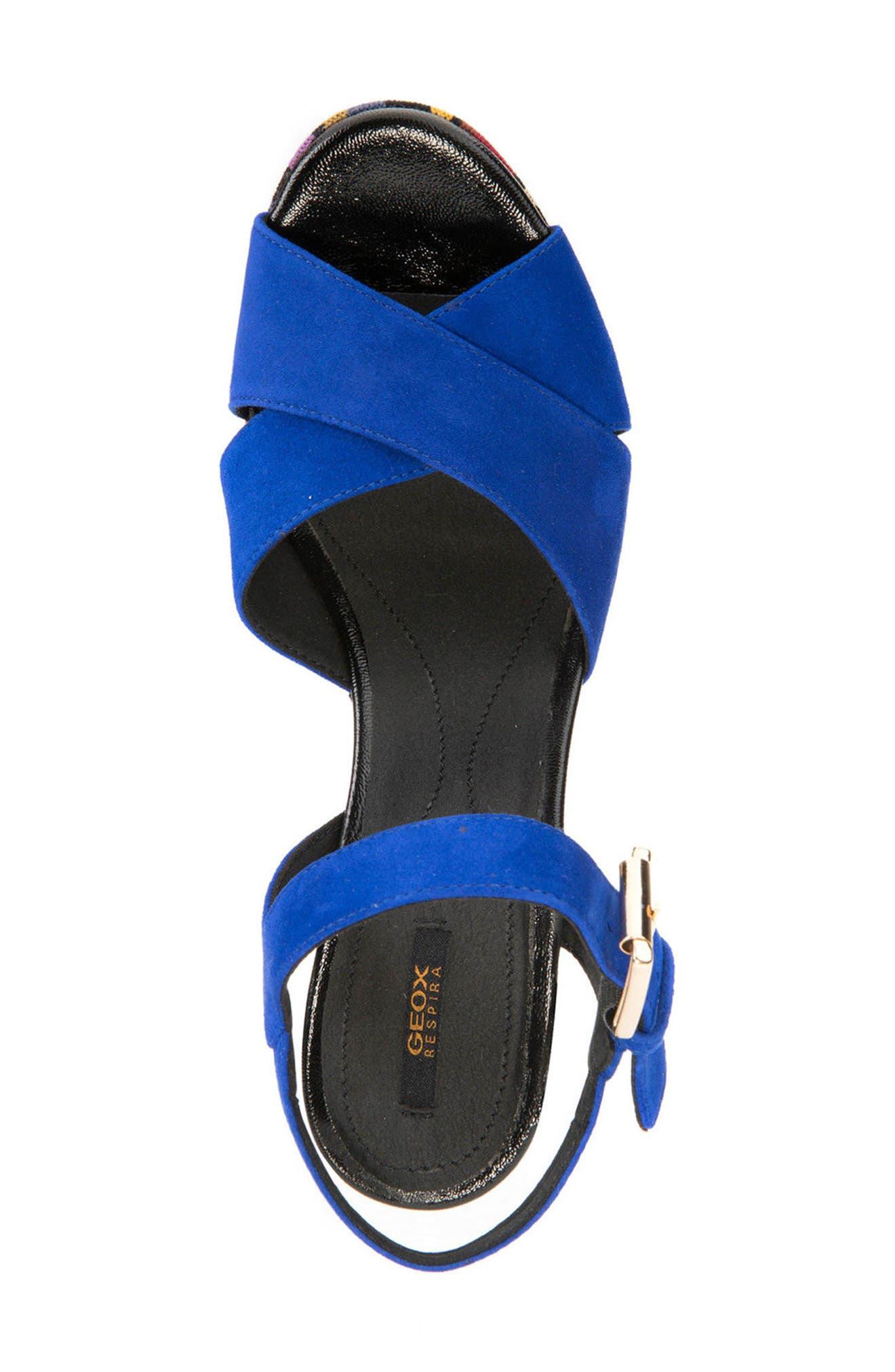 Galene 3 Platform Sandal,                             Alternate thumbnail 4, color,                             Royal Suede