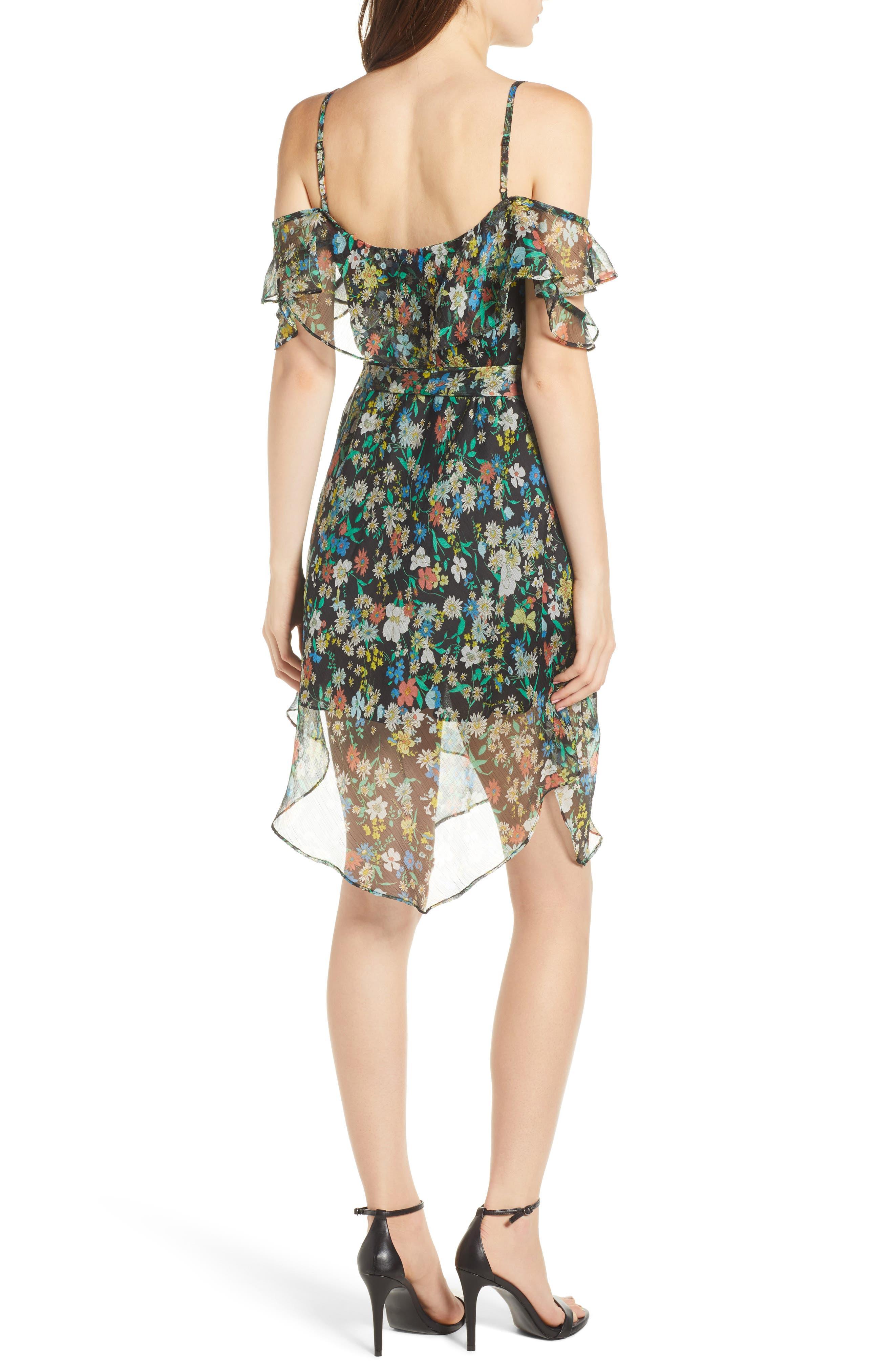 Alternate Image 2  - KENDALL + KYLIE Floral Ruffle Wrap Dress